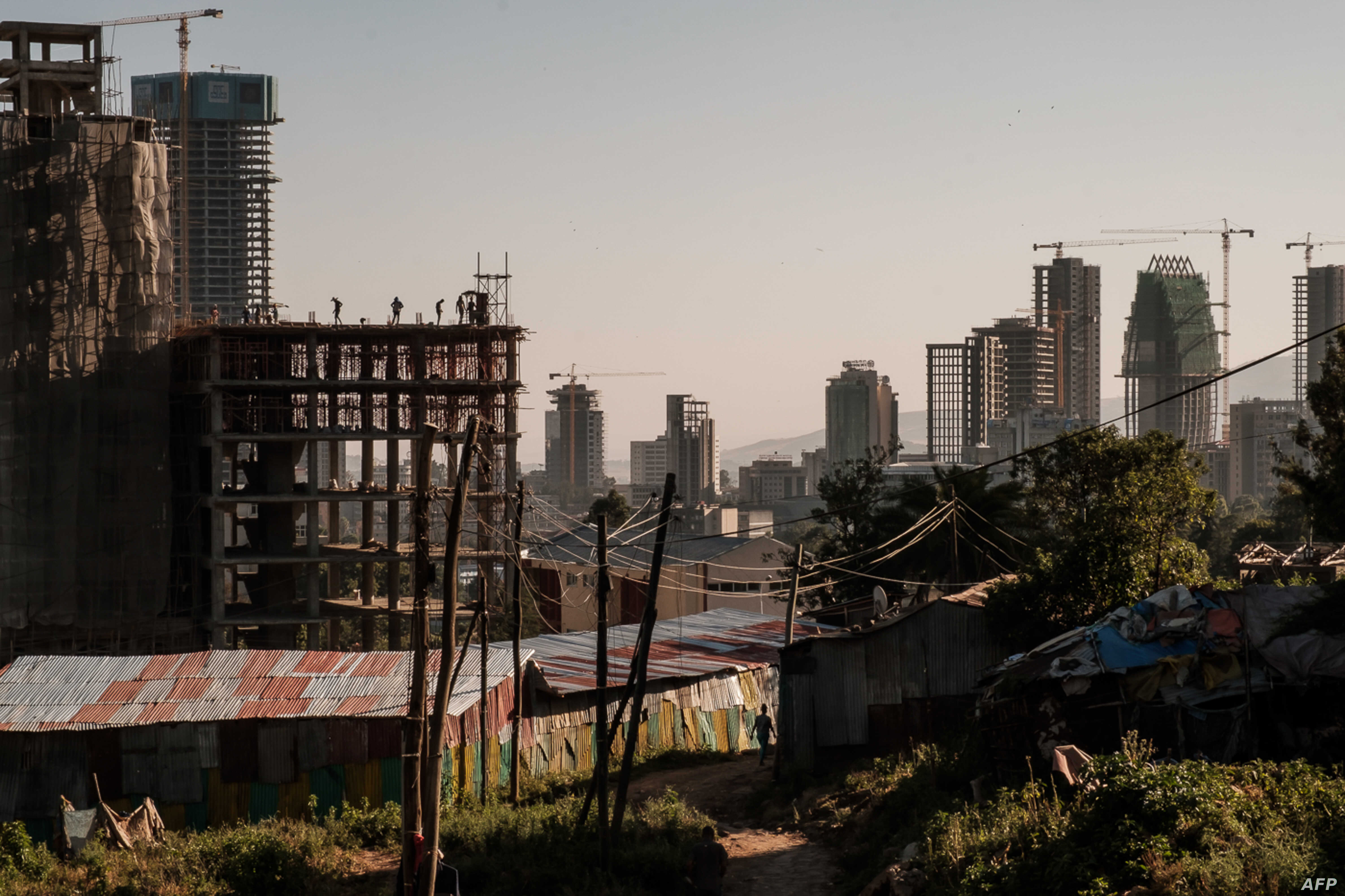 FILE - A picture taken on Nov. 1, 2018, shows building under construction in Addis Ababa, Ethiopia.
