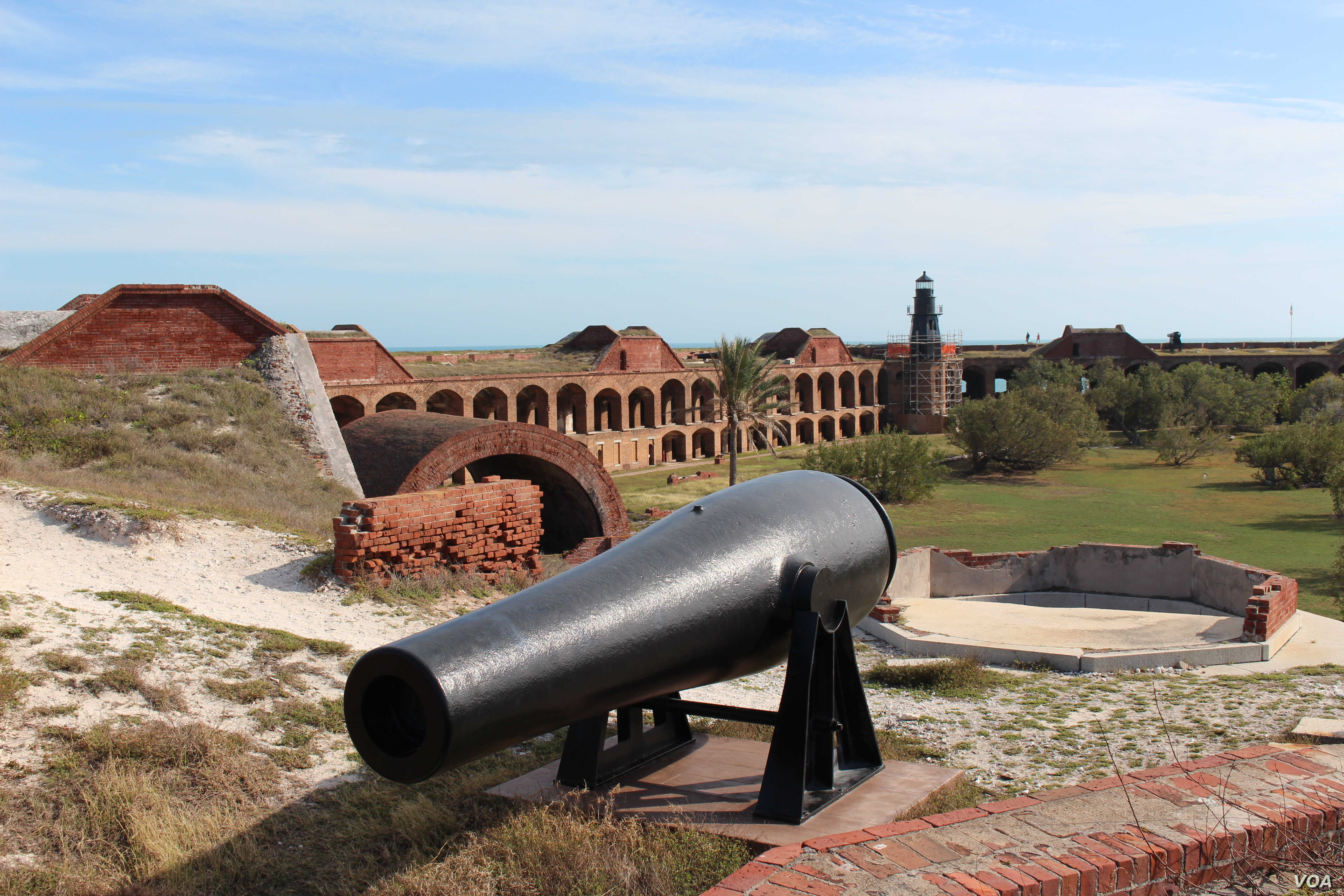 Nestled within the islands and shoals that make up the Dry Tortugas, the harbor overlooked by Fort Jefferson offered ships the chance to resupply, refit, or seek refuge from storms.