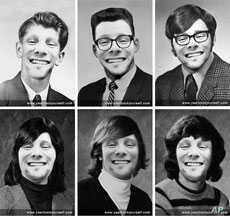 On his Flickr Creative Commons page, Myki Roventine has some fun with the traditional, starchy yearbook gallery of student faces.