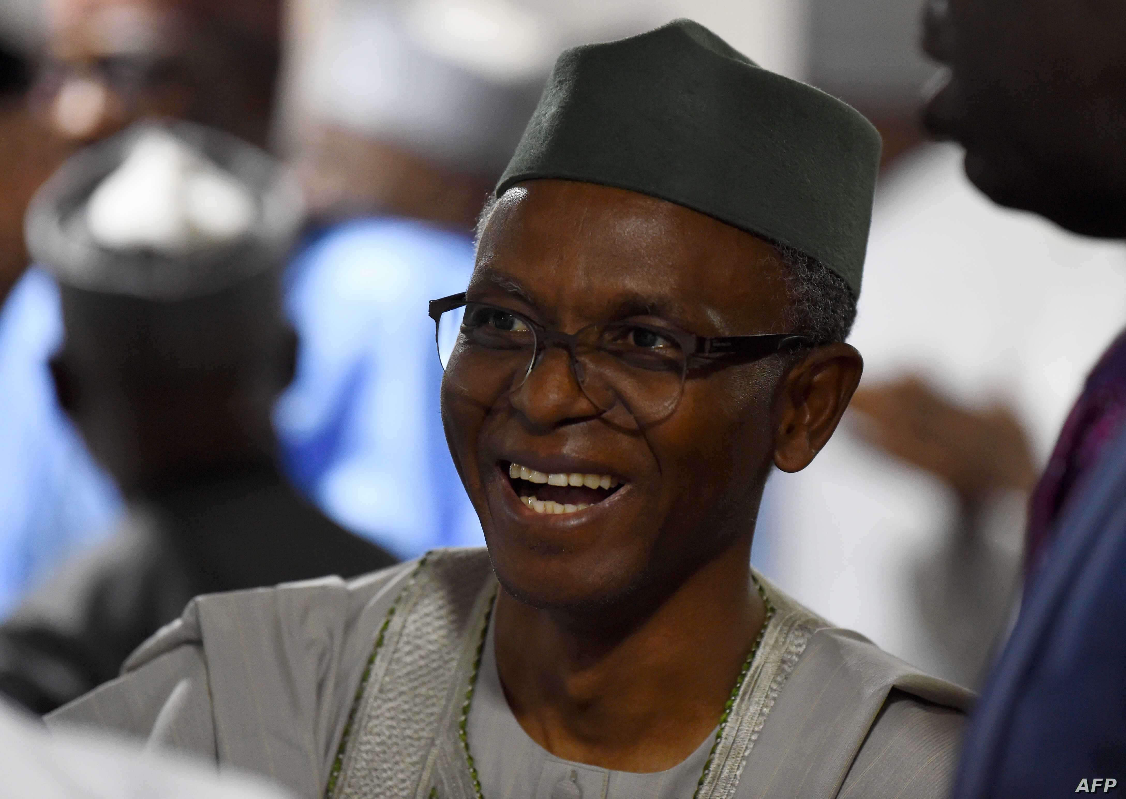 This photograph taken on Feb.18, 2019, shows Kaduna State Governor Nasir El-Rufai as he speaks in Abuja, about an attack by gunmen on villages in northwest Nigeria last week.