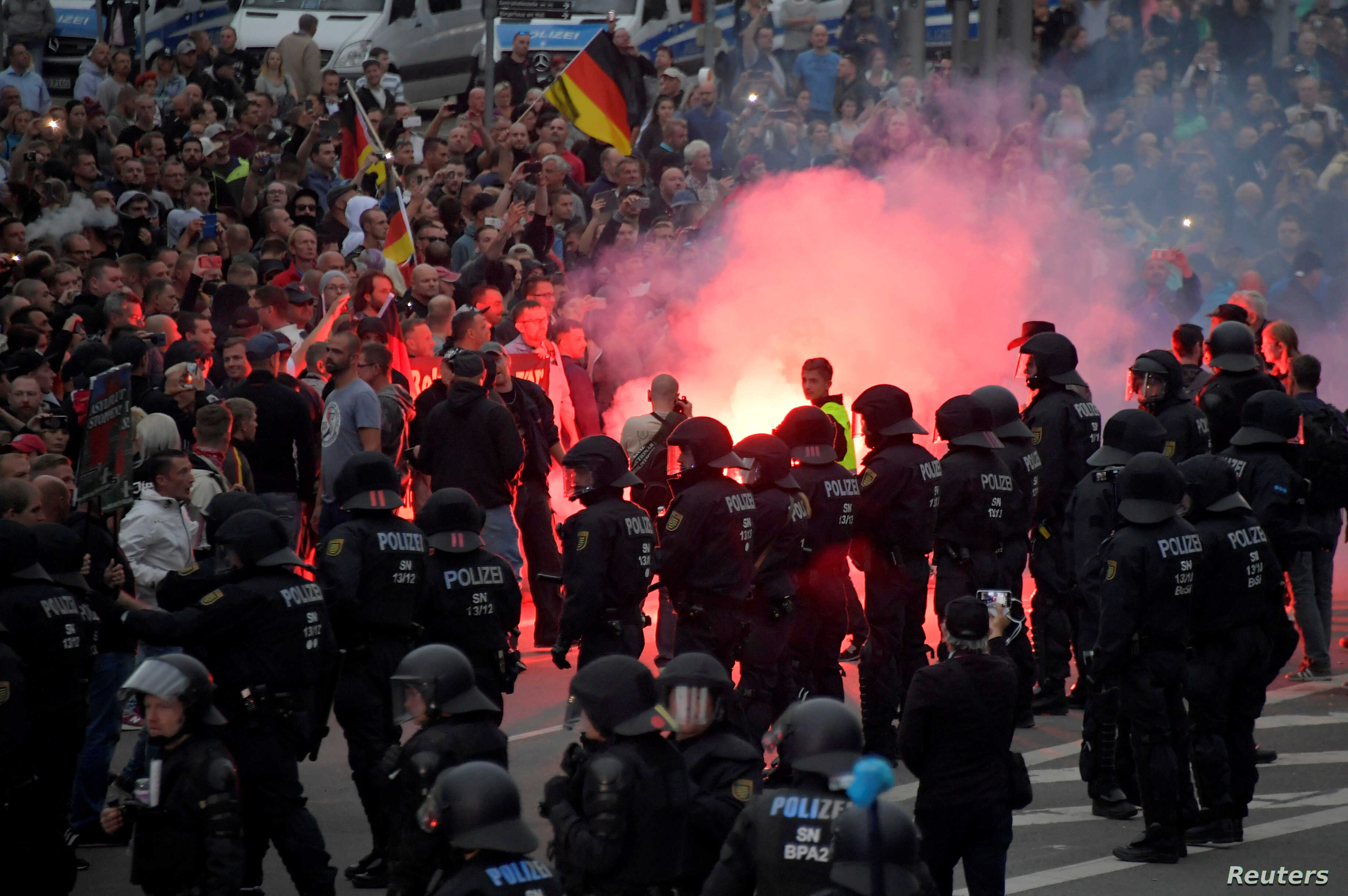 German Officials: 'Fake News' Helped Stoke Anti-Migrant Riot