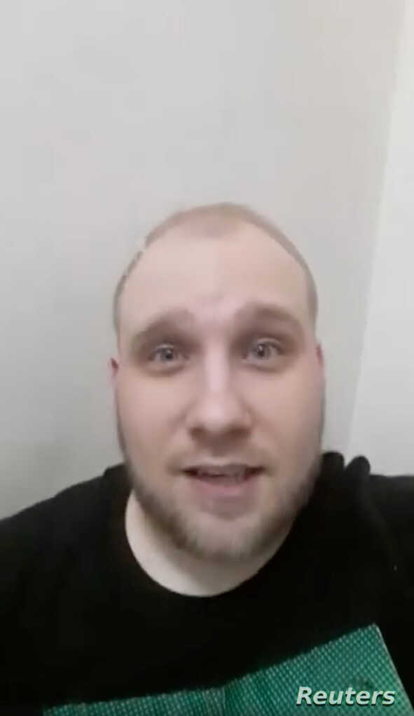 Joshua Holt, a U.S. citizen and Mormon missionary, is pictured from a selfie video he posted on Facebook during a riot at the Helicoide detention center, Venezuela, obtained by Reuters May 16, 2018.
