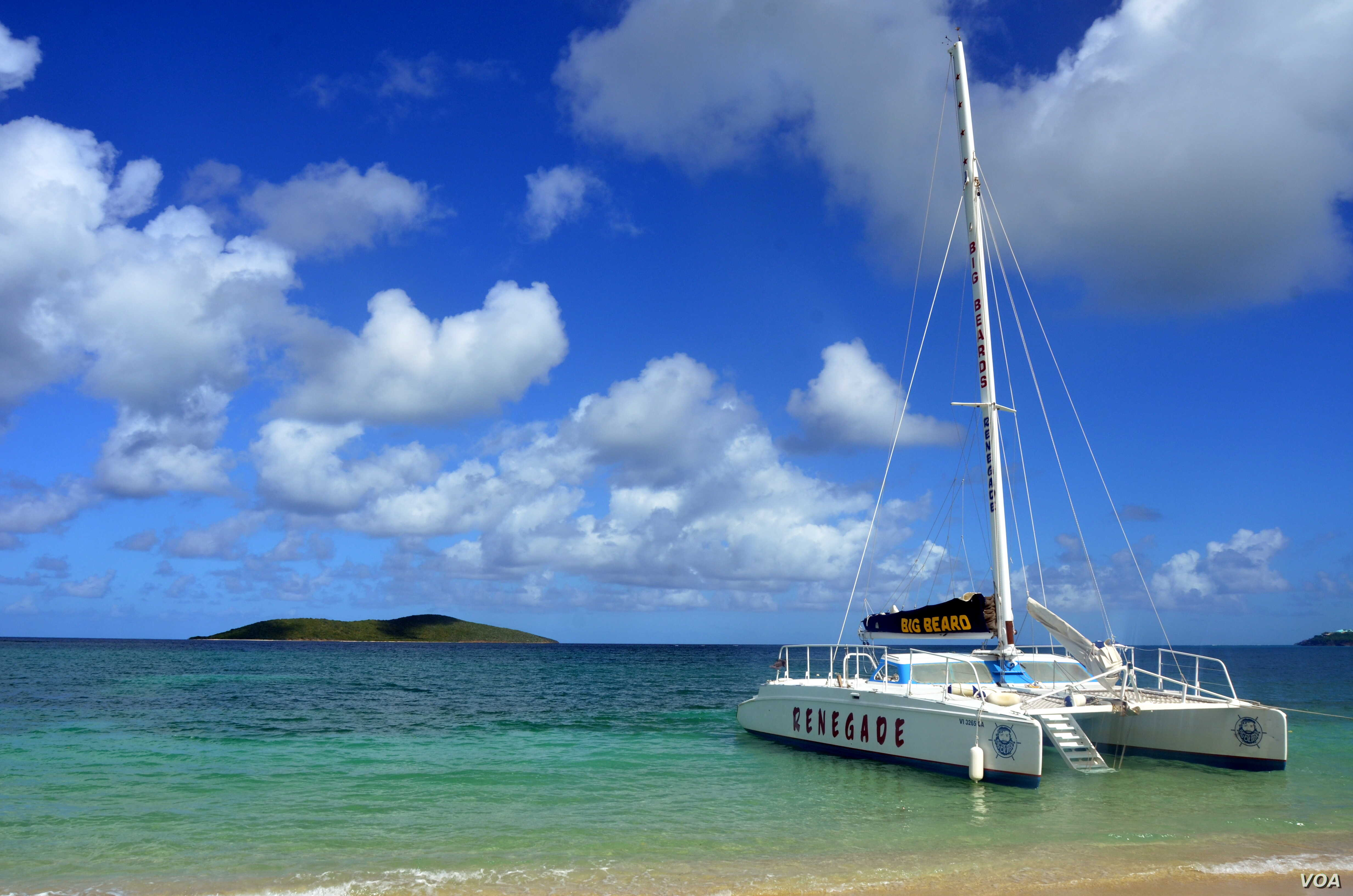 Buck Island is only accessible by boat, so companies like Big Beard's Adventure Tours ferry snorkelers out to the reef.