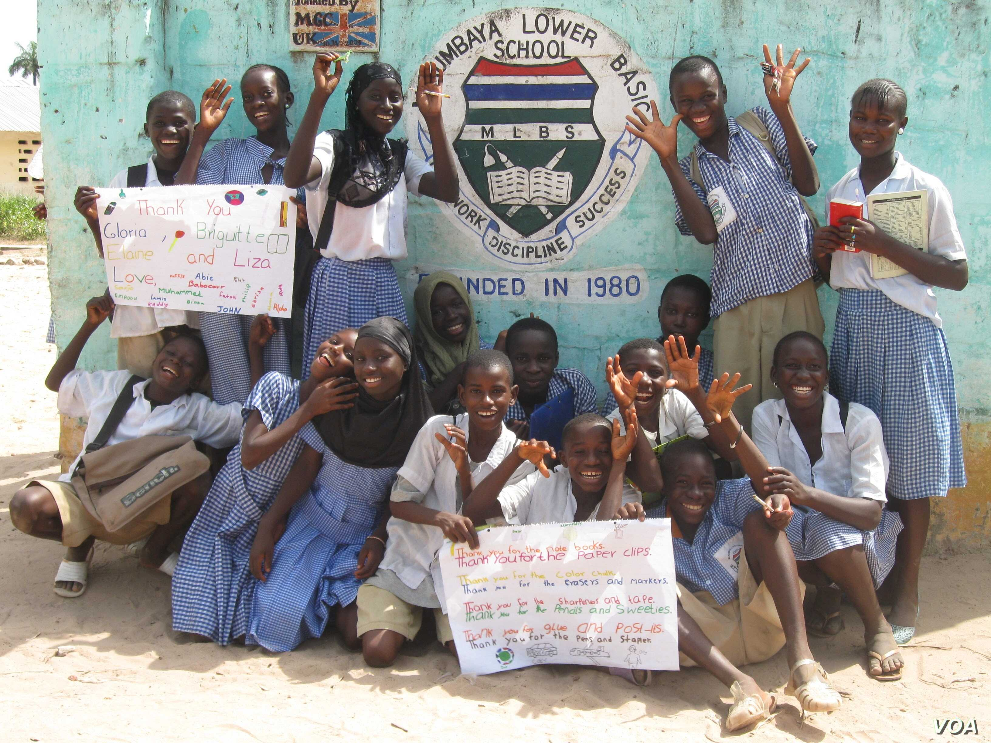 Students at the Makumbaya Lower Basic School in the Gambia. (Courtesy photo)
