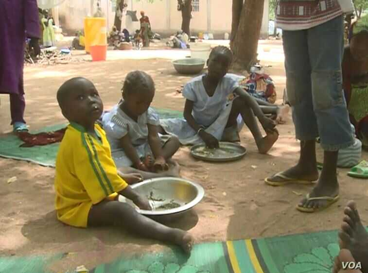 Some of the former Boko Haram hostages have returned with their children, in Mozogo, Cameroon, Oct. 21, 2017.