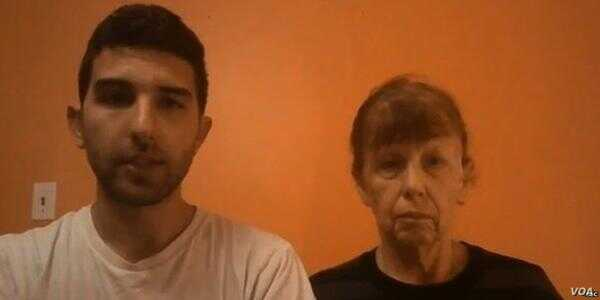 In a video message, hostage Luke Somers' family – brother Jordan and mother Paula – beg his captors to free him.