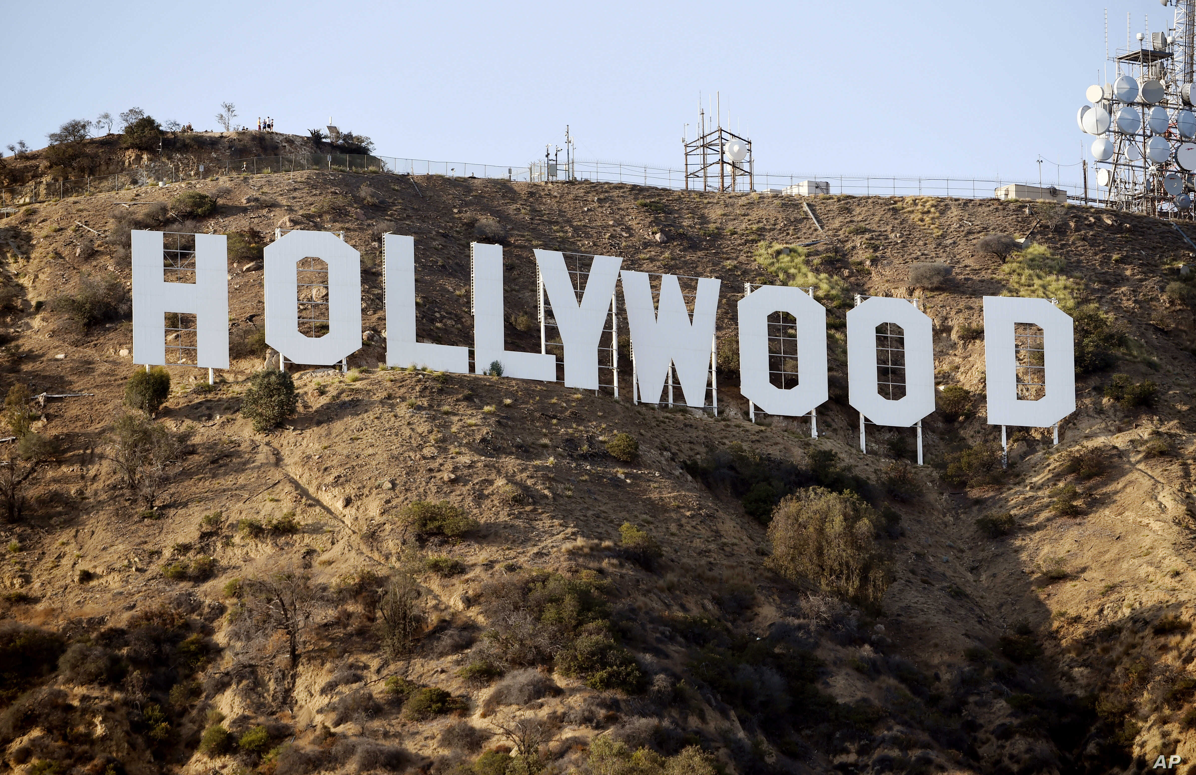 The Hollywood Sign is pictured Aug. 23, 2016, in Los Angeles.