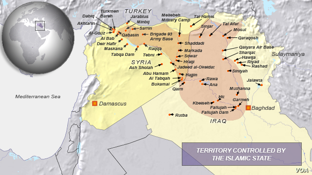Areas Controlled by the Islamic State