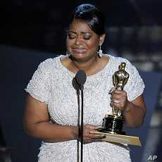 """Octavia Spencer accepts the Oscar for best actress in a supporting role for """"The Help"""" during the 84th Academy Awards on Sunday, Feb. 26, 2012, in the Hollywood section of Los Angeles."""
