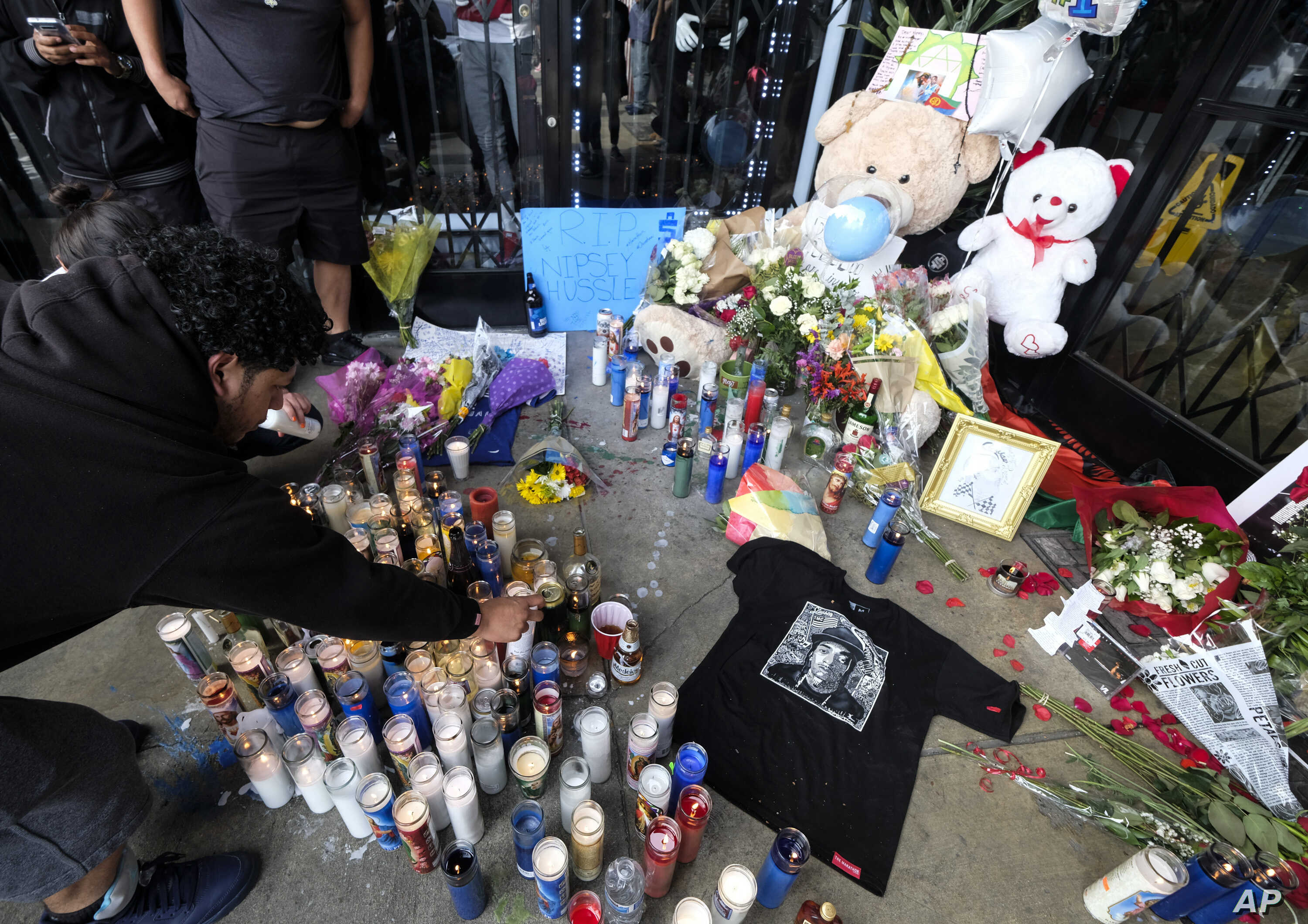 Nipsey Hussle Memorial Reveals the Man Behind Rap Persona | Voice of