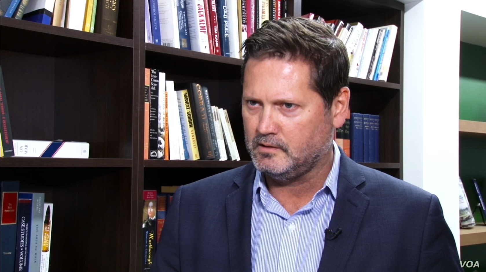 Hudson Institute senior fellow Michael Pregent speaks to VOA Persian in Washington, July 12, 2018, about NATO's new training mission for Iraqi forces.