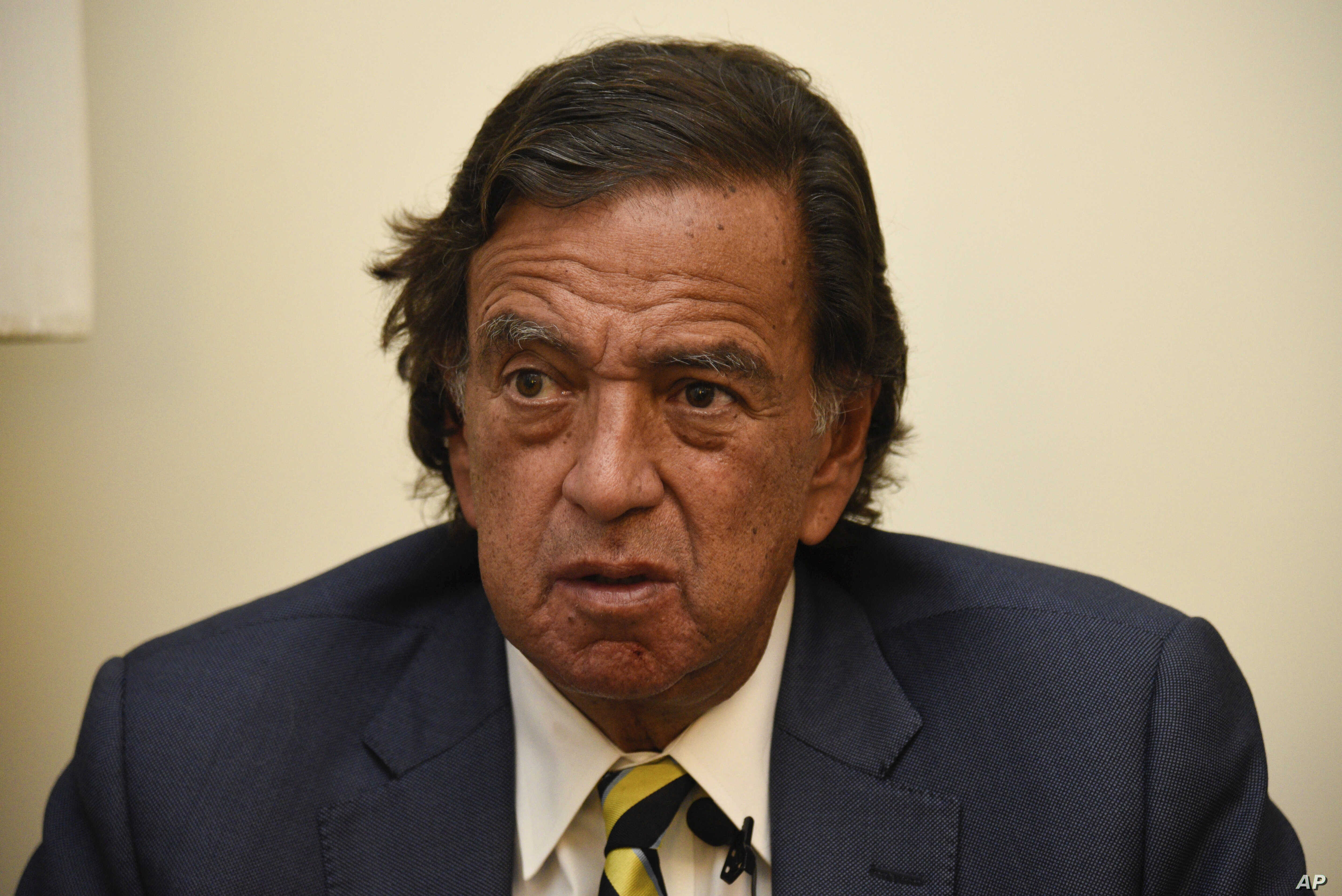 During an interview with the Associated Press, Former New Mexico Gov. Bill Richardson said he has resigned from an advisory panel trying to tackle the massive Rohingya refugee crisis, Jan. 24, 2018, in Yangon, Myanmar.