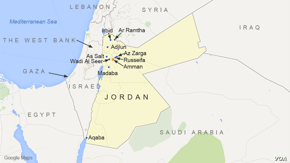 3 Us Trainers Killed In Exchange Of Gun Fire At Jordan Air Base - Map-of-us-air-bases