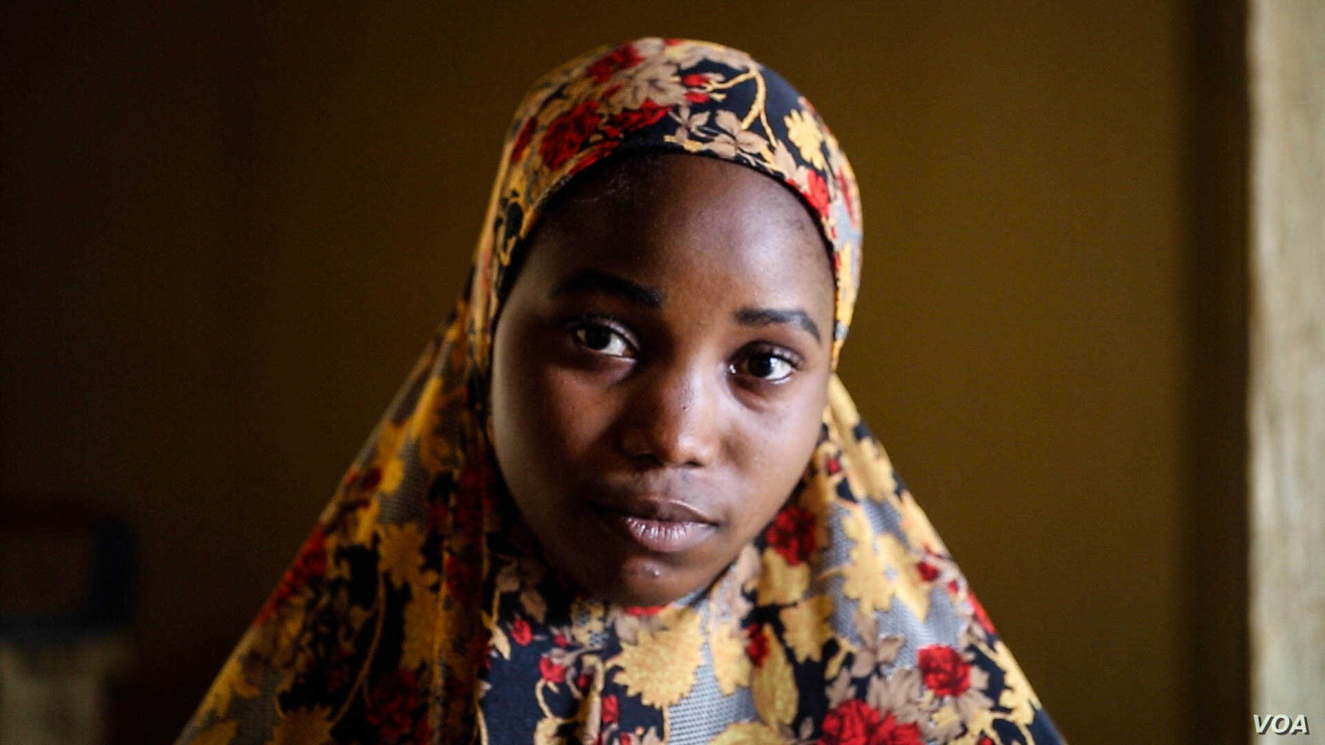 Sumayya Musa said she has defied her community's expectations by refusing to get married. Single and 18-years-old, she says people in her village ridicule her. (C. Oduah/VOA)