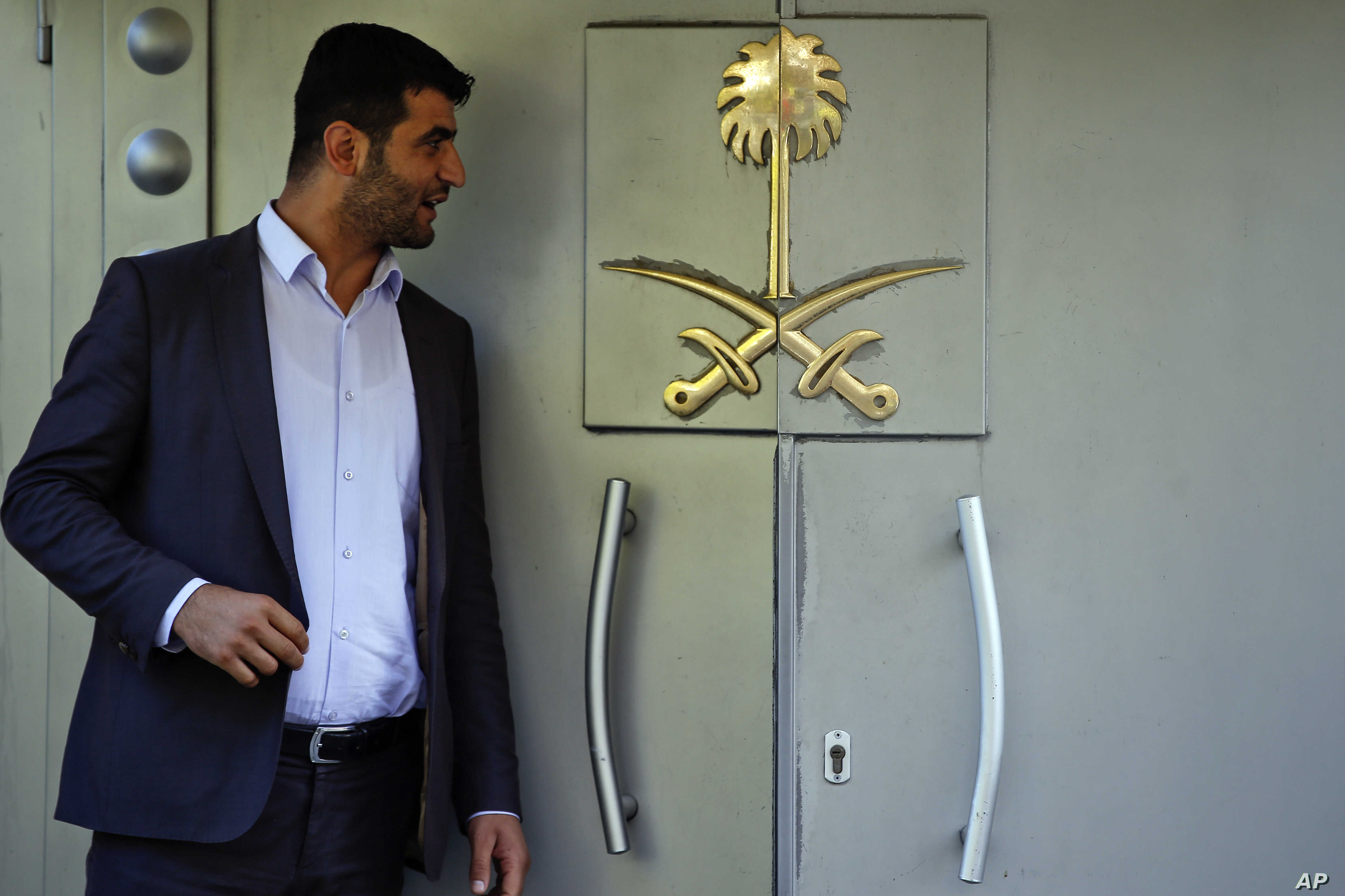 """Officials leave Saudi Arabia consulate in Istanbul, Oct. 7, 2018. A friend of a Saudi journalist who went missing in Istanbul says officials told him to """"make your funeral preparations"""" as the Washington Post contributor """"was killed"""" at the Saudi Con..."""