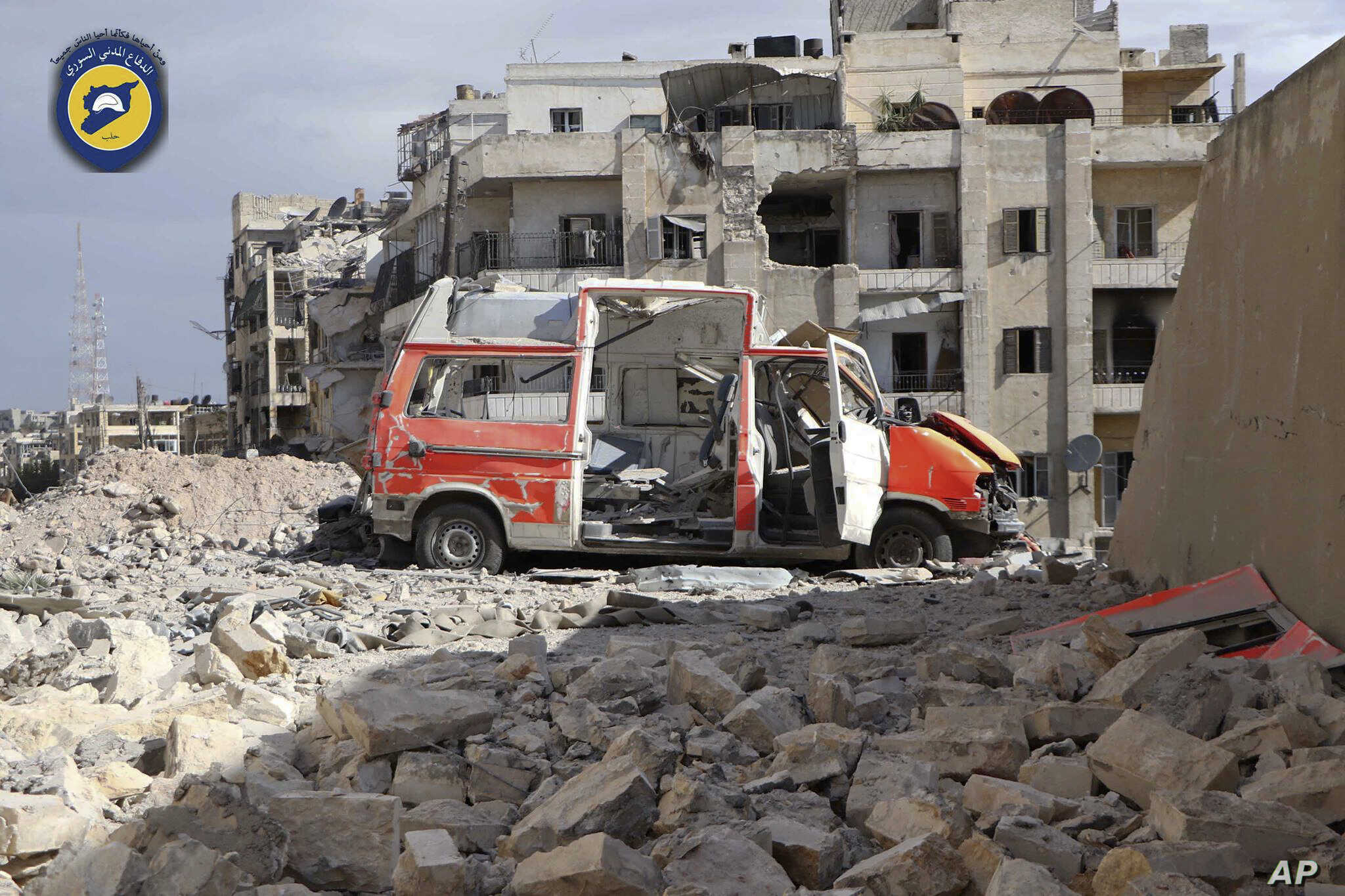 Study: Ambulances 'Repeatedly Targeted' in Syria Conflict