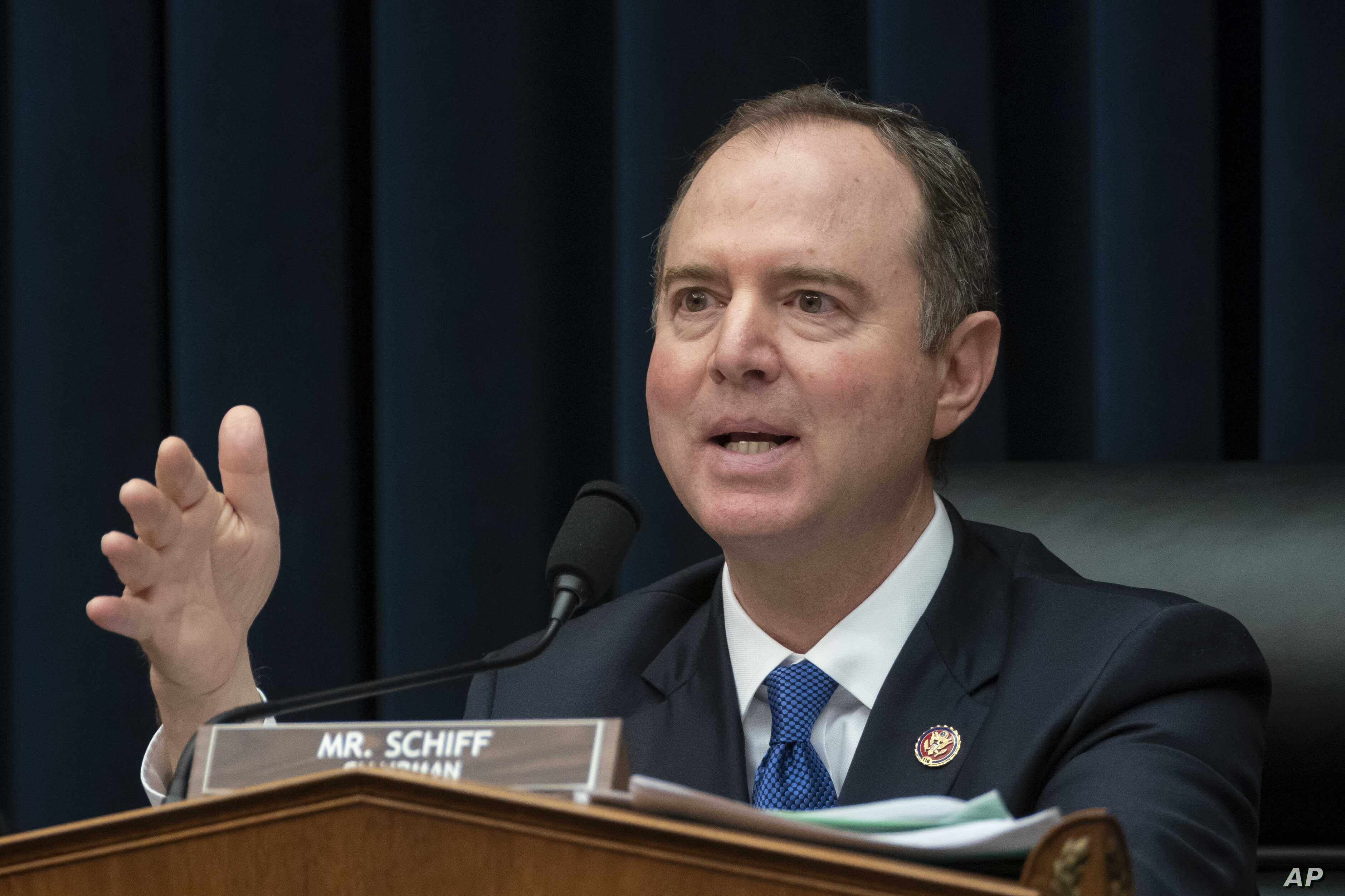 """House Intelligence Committee Chairman Adam Schiff, D-Calif., pushes ahead with their oversight of the Trump administration at a hearing to examine """"Putin's Playbook,"""" how the Russian government works to undermine its adversaries, especially the U.S.,"""