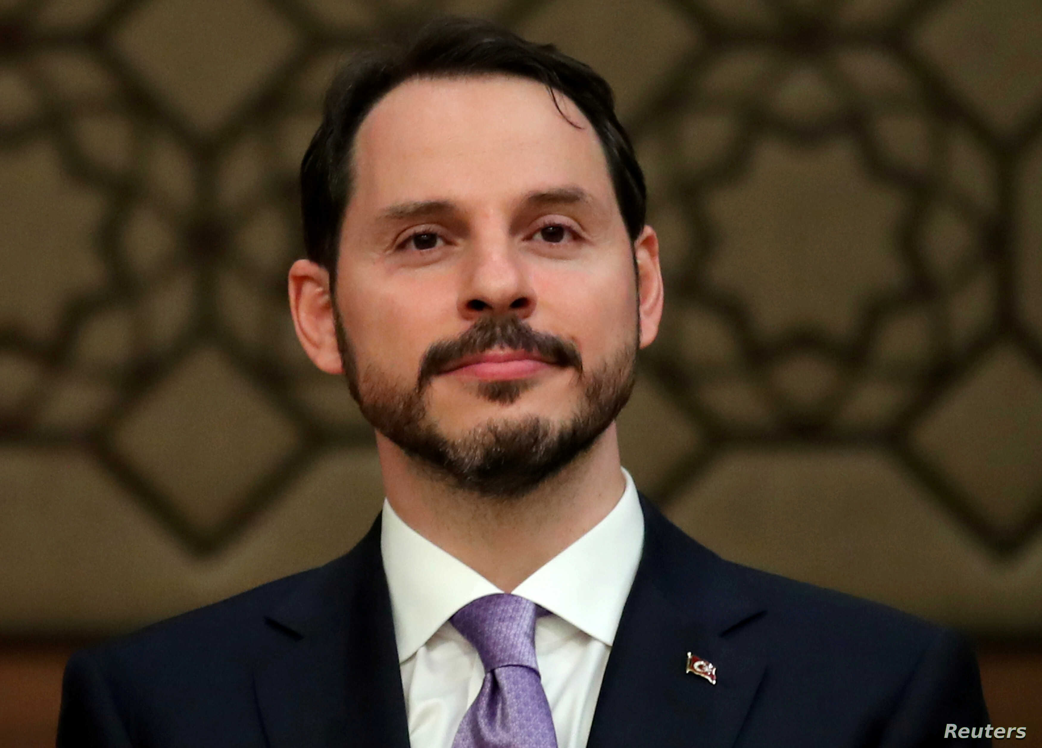 FILE : Turkish President Tayyip Erdogan's son-in-law and newly appointed Treasury and Finance Minister Berat Albayrak attends a news conference at the Presidential Palace in Ankara, Turkey, July 9, 2018.