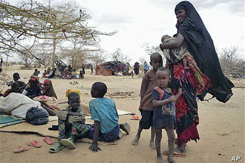 Refugees rest outside in an open area as there is lack of tents at the Dollo Ado refugee camp, Ethiopia, Thursday, July 7, 2011 (file photo)
