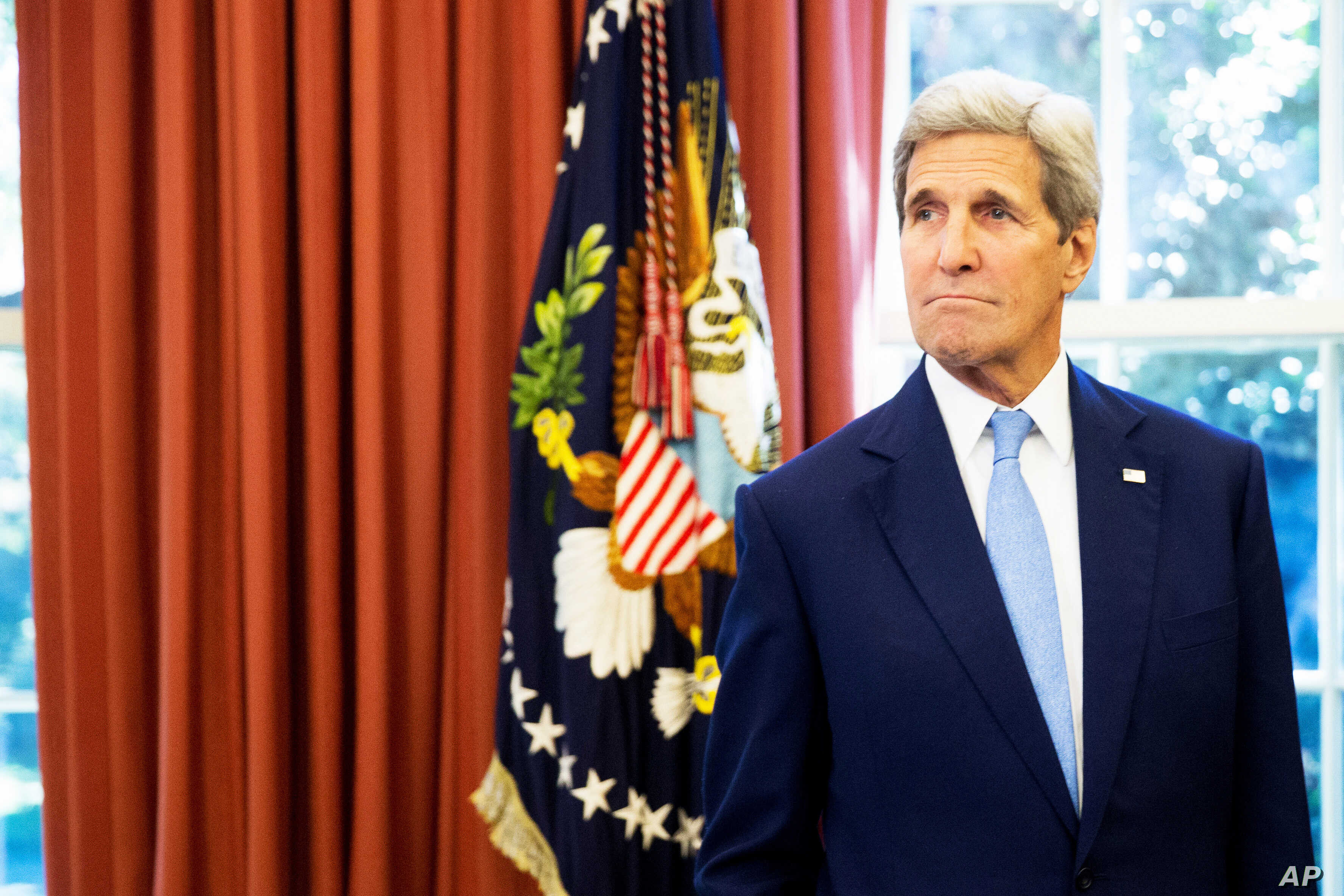 Secretary of State John Kerry in the Oval Office of the White House, Sep 15, 2015.