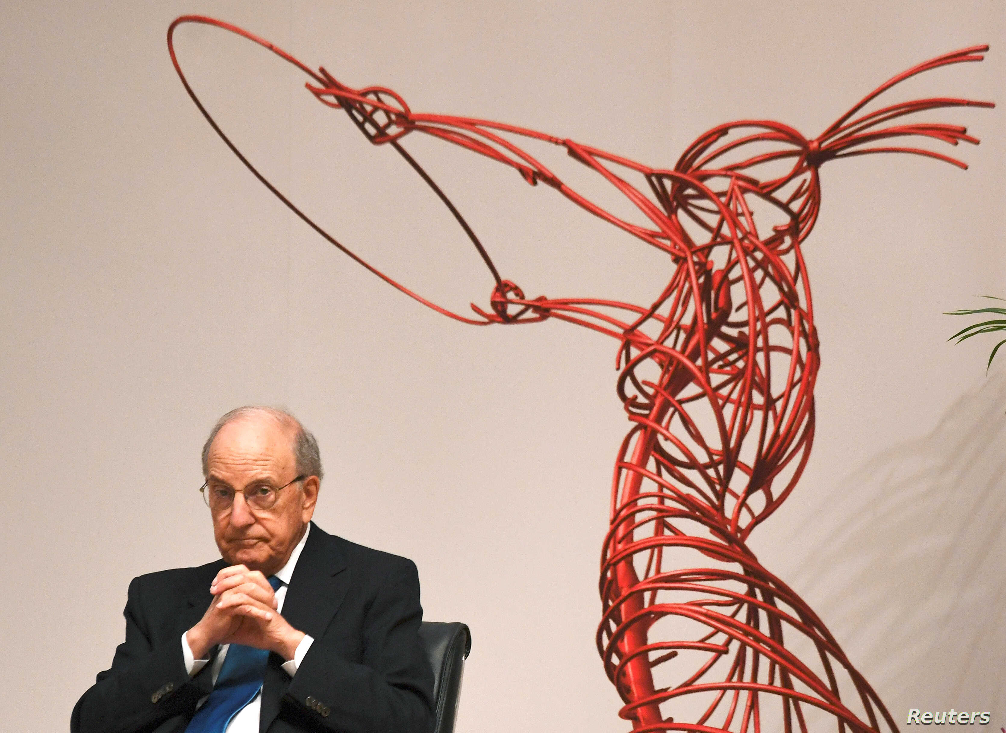Former U.S. Senator George Mitchell attends an event to celebrate the 20th anniversary of the Good Friday Agreement, in Belfast, Northern Ireland, April 10, 2018.