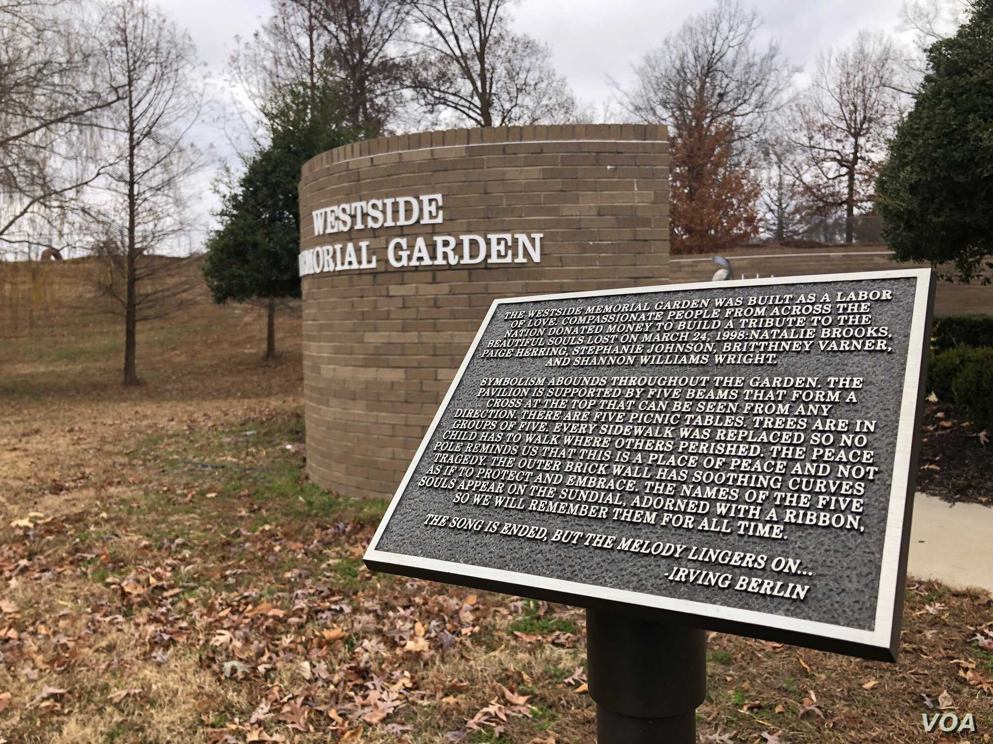 The legacy of the 1998 school shooting in Jonesboro, in northeast Arkansas, has contributed to stricter security. Photo taken Dec. 4, 2018 (T.Krug/VOA News)