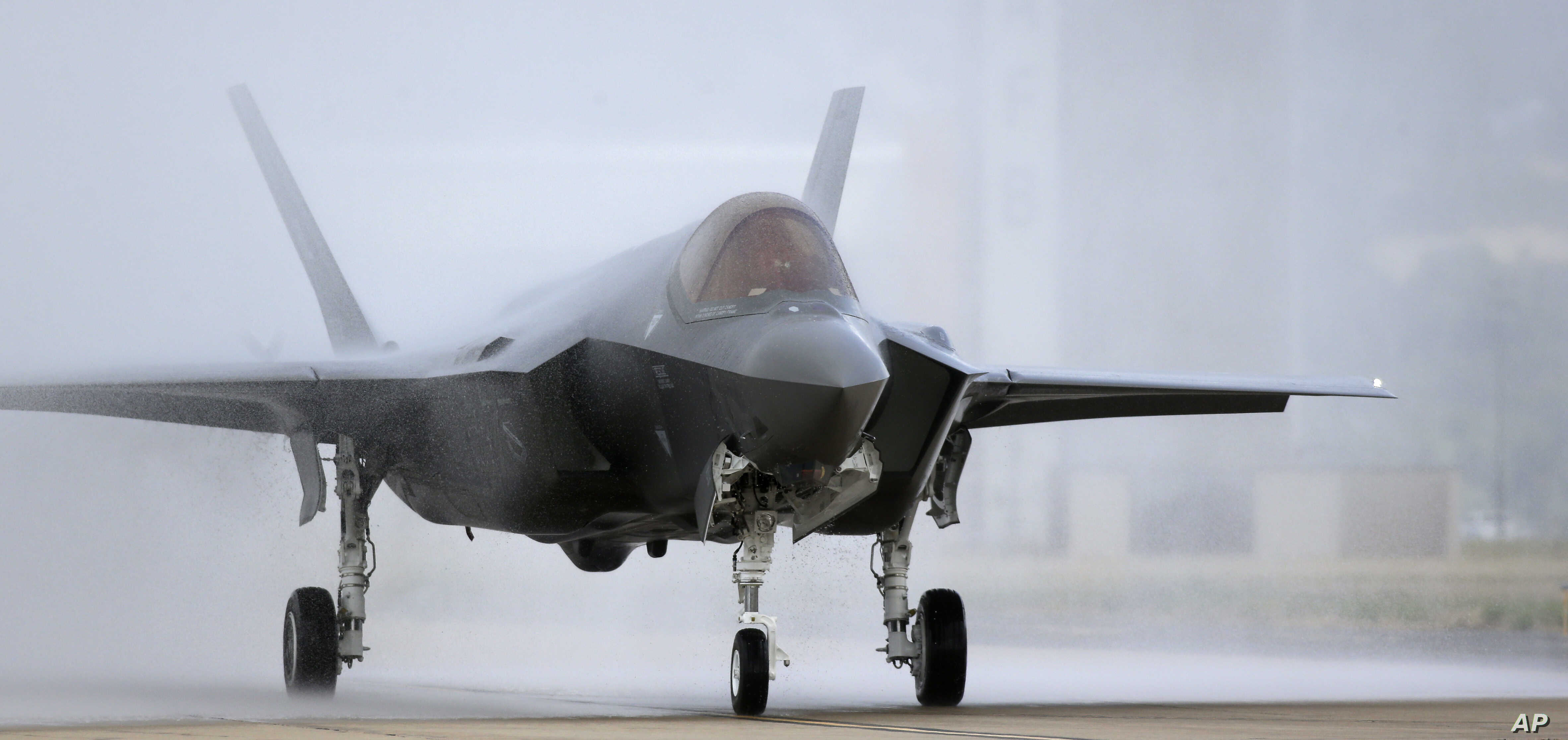 An F-35 arrives at it new operational base, Sept. 2, 2015, at Hill Air Force Base, in northern Utah.