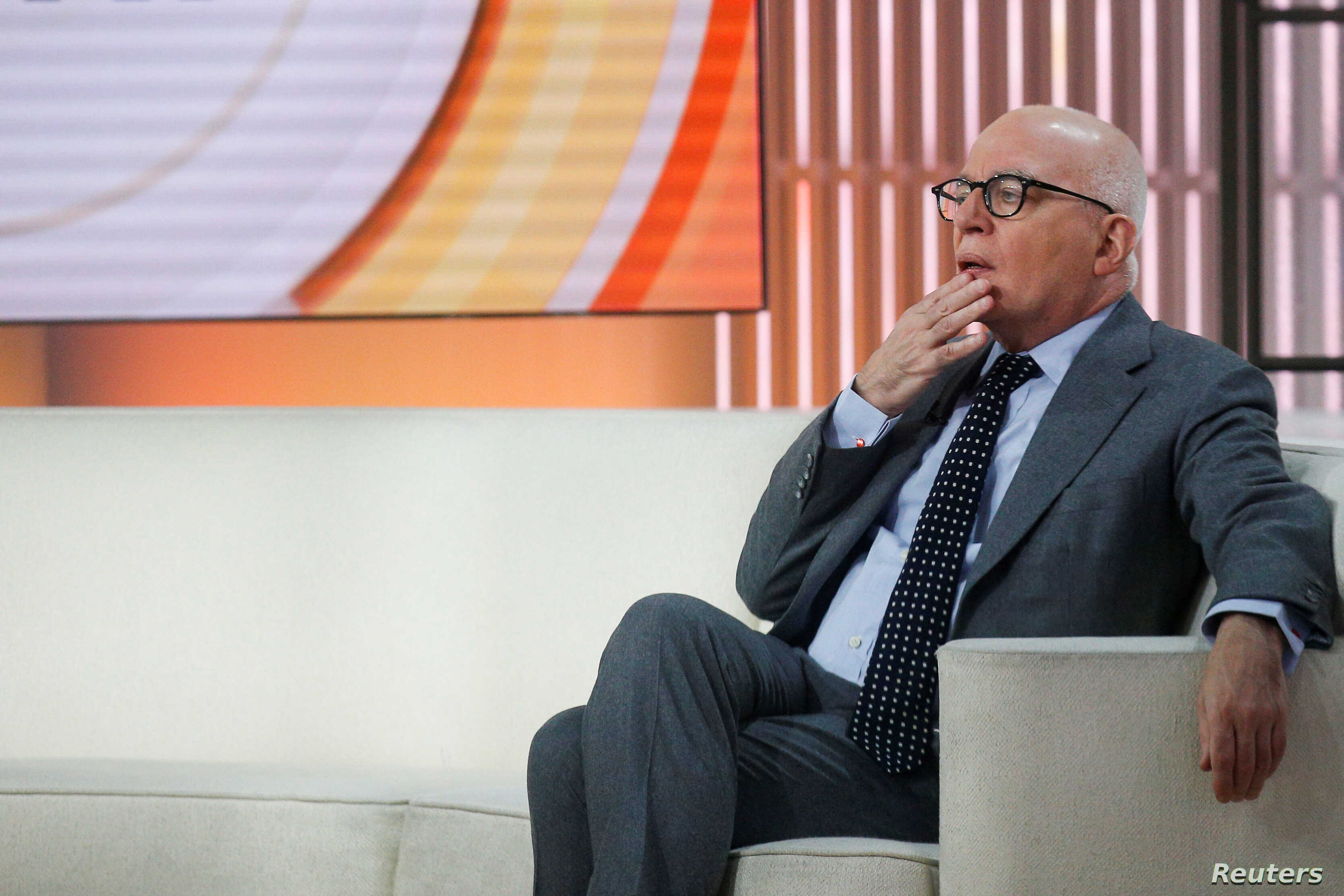 """Author Michael Wolff is seen on the set of NBC's """"Today"""" show prior to an interview about his book """"Fire and Fury: Inside the Trump White House"""" in New York City, Jan. 5, 2018."""