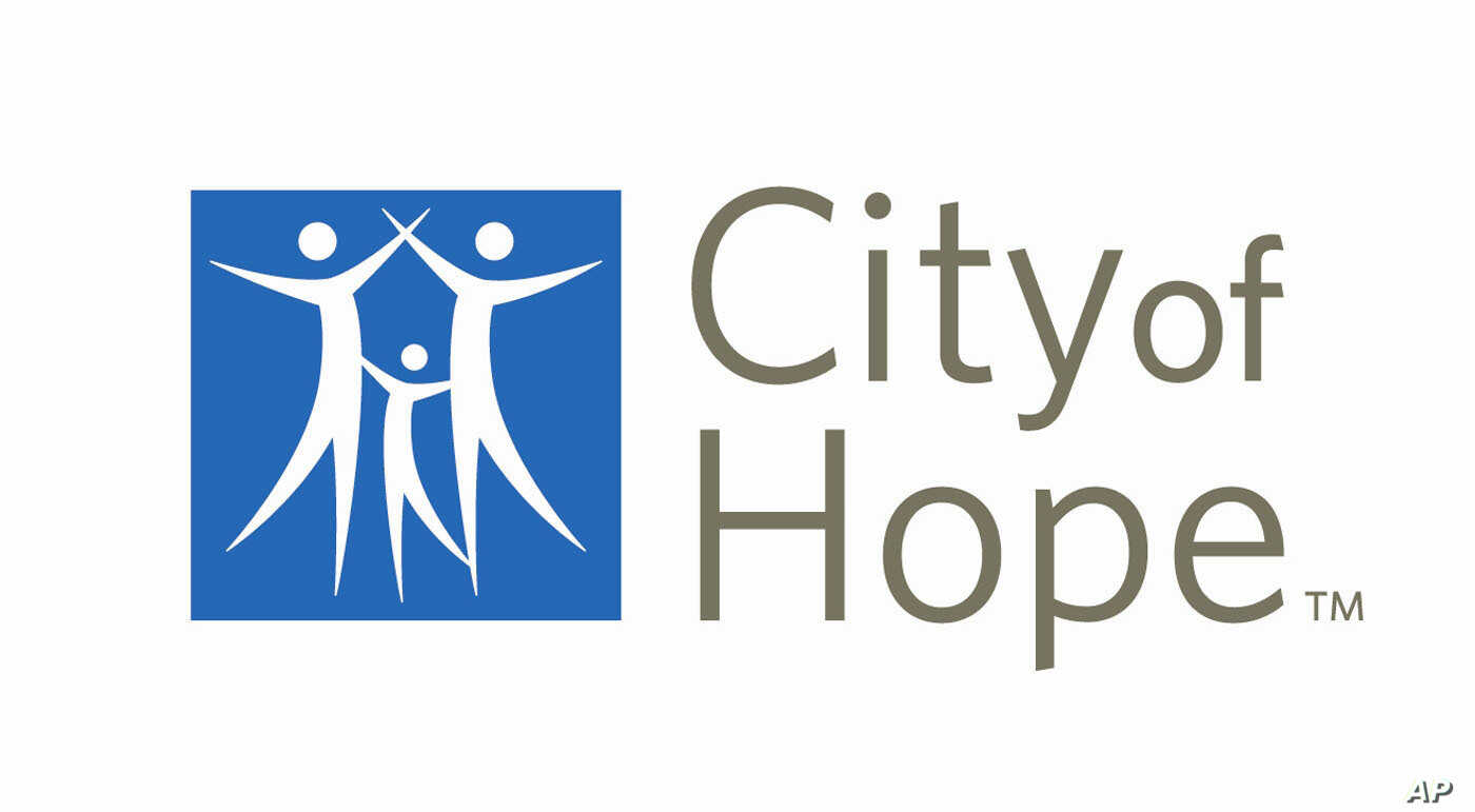 The logo of City of Hope, a cancer center in Duarte, Calif.
