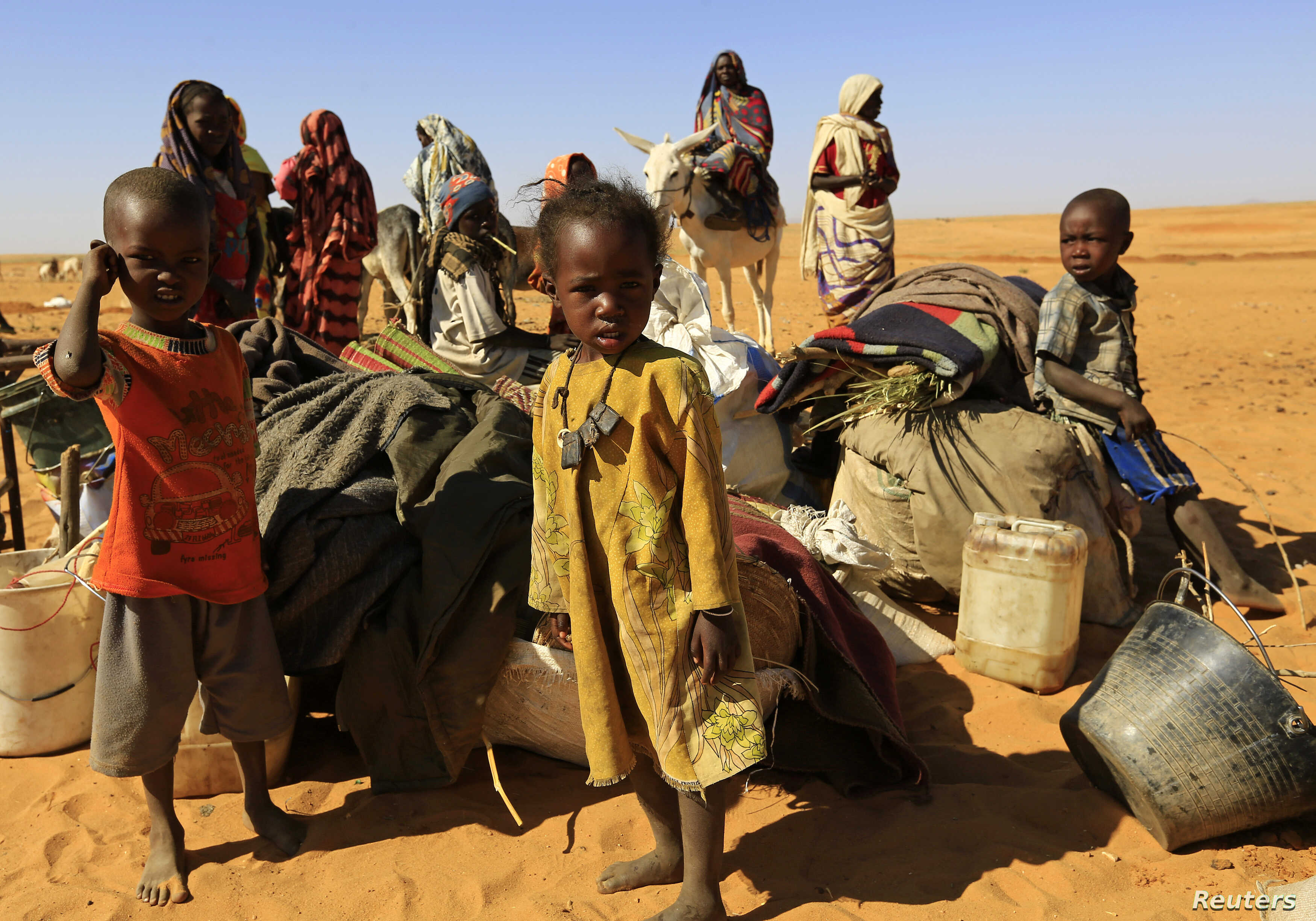 FILE - Thousands have fled areas in east Jebel Marra and north of Tawilla due to clashes between government forces and armed opposition groups.