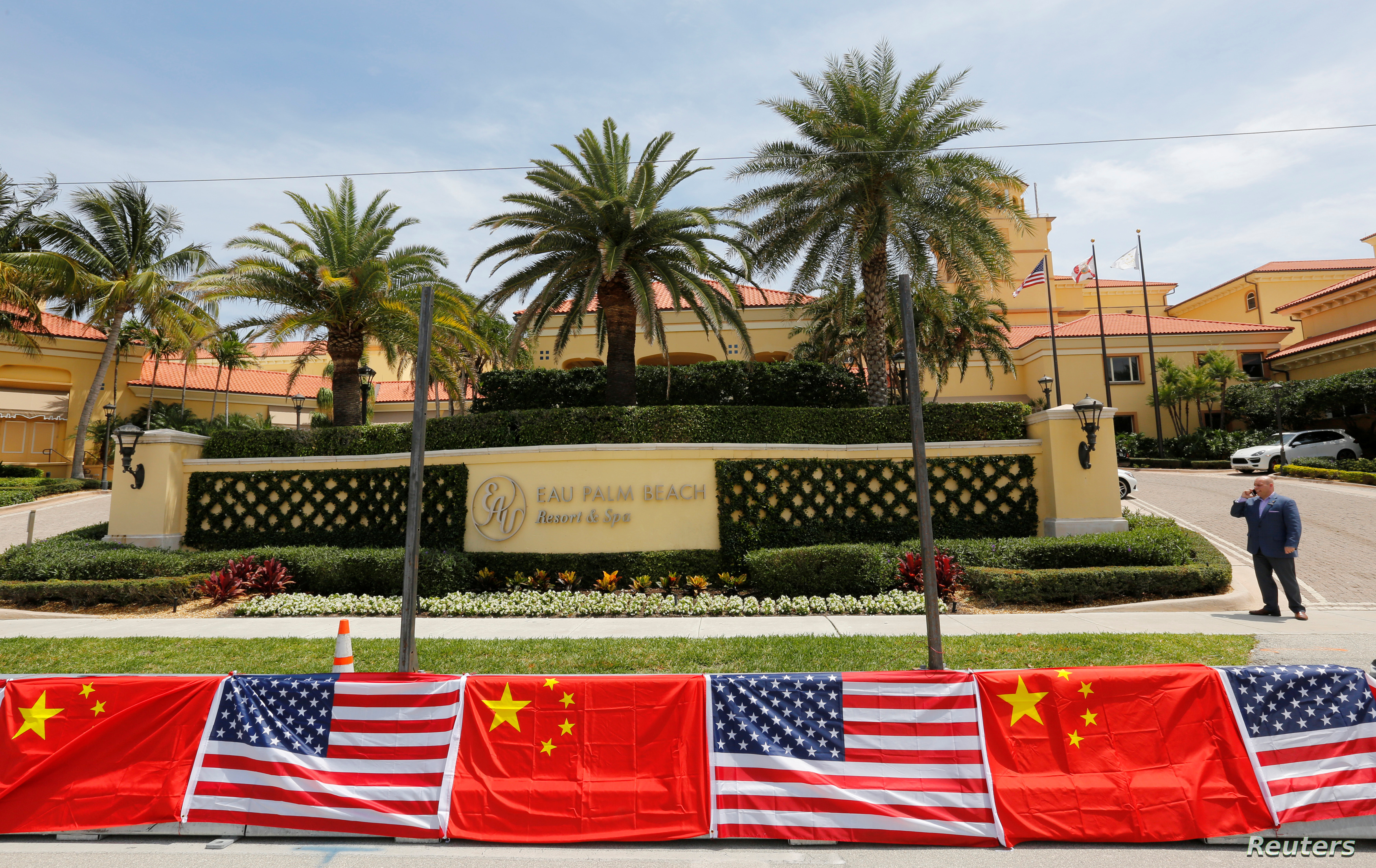 The Eau Palm Beach Resort and Spa where Chinese President Xi Jinping will stay is shown in Manalapan, Florida, April 5, 2017. U.S. President Donald Trump will meet with Xi on April 6 and 7 at his nearby Mar-a-Lago estate.