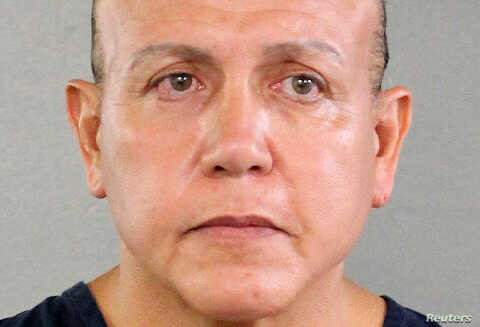 Cesar Altieri Sayoc is pictured in Ft. Lauderdale, Florida, U.S. in this August 2015 handout booking photo obtained by Reuters, Oct. 26, 2018.