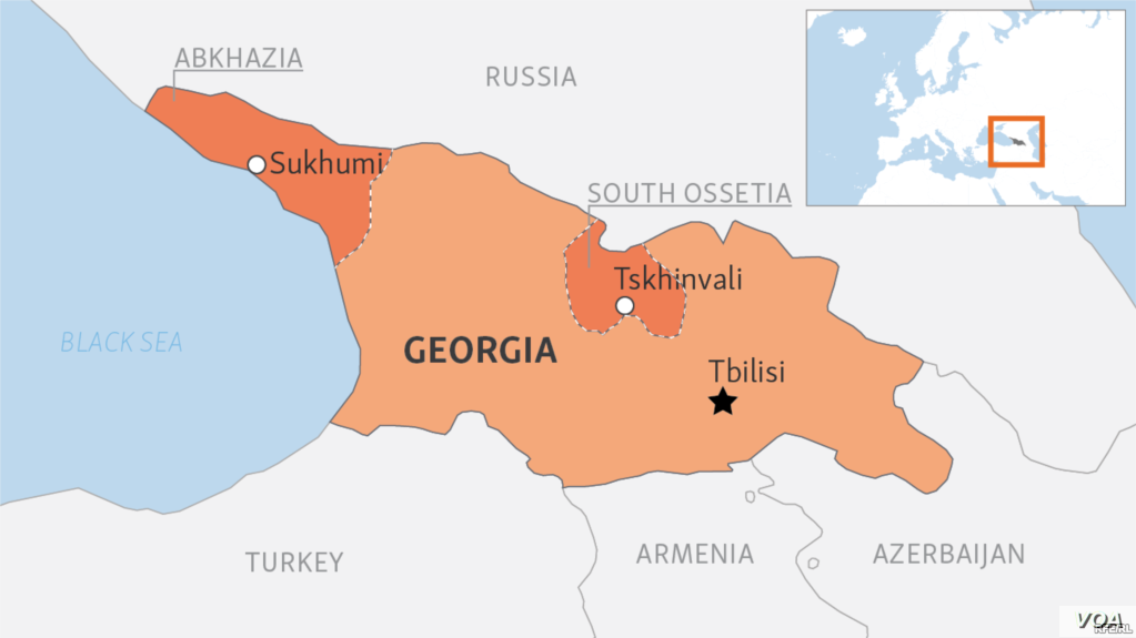 Map Of Georgia And Surrounding States.Us Condemns Syria For Recognizing Georgia S Breakaway Regions