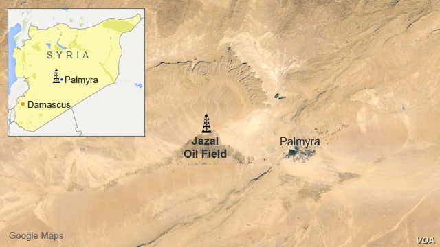 Jazal oil field, near Palmyra, Syria