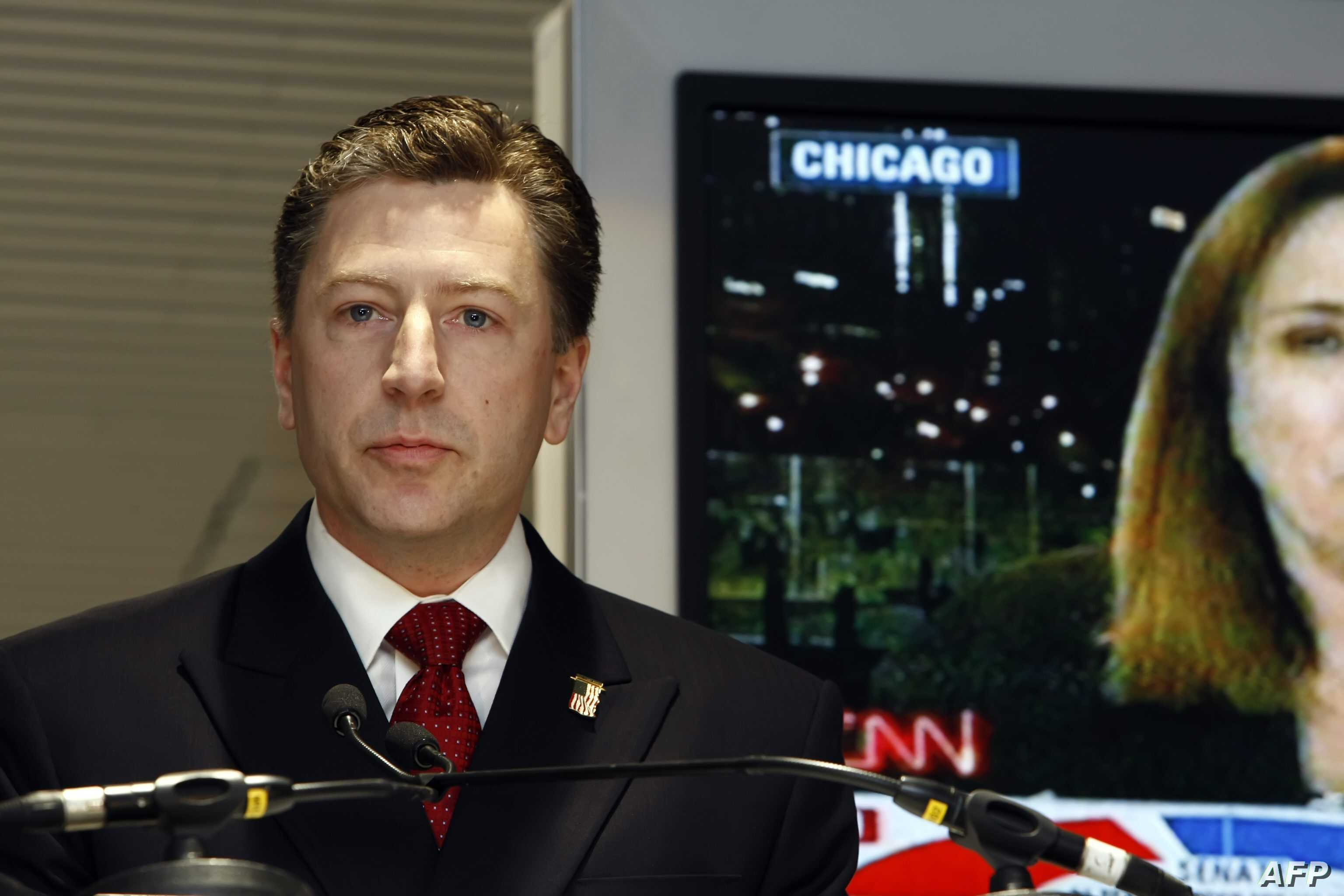 Former U.S. permanent representative to NATO Kurt Volker is shown in Brussels, Nov. 5, 2008.