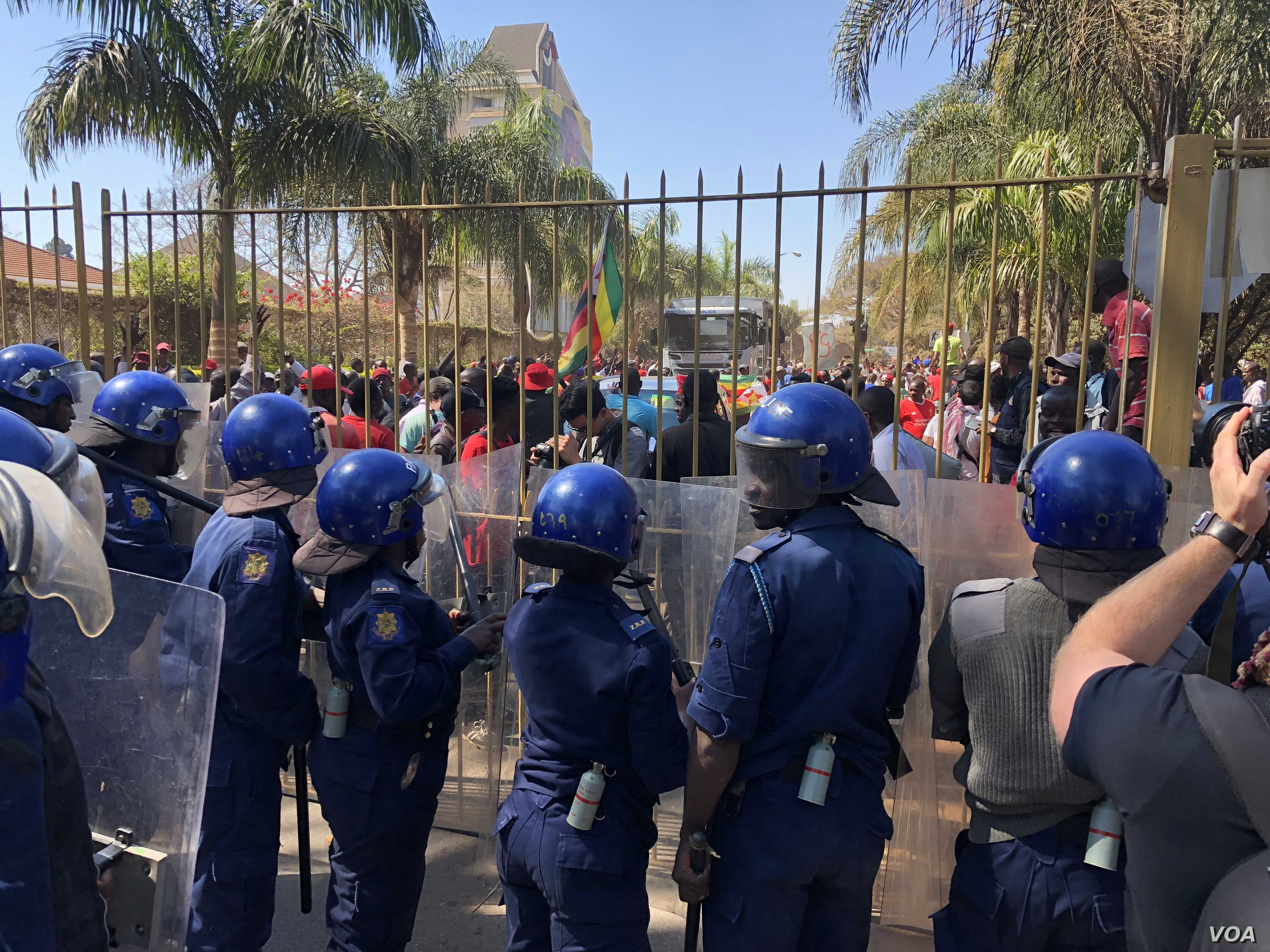 Addressing reporters Sunday foreign minister Sibusiso Moyo said President Emmerson Mnangagwa's government regretted security forces' descending heavily opposition protestors (1 August, 2018) who were calling on the Zimbabwe Electoral Commission a...