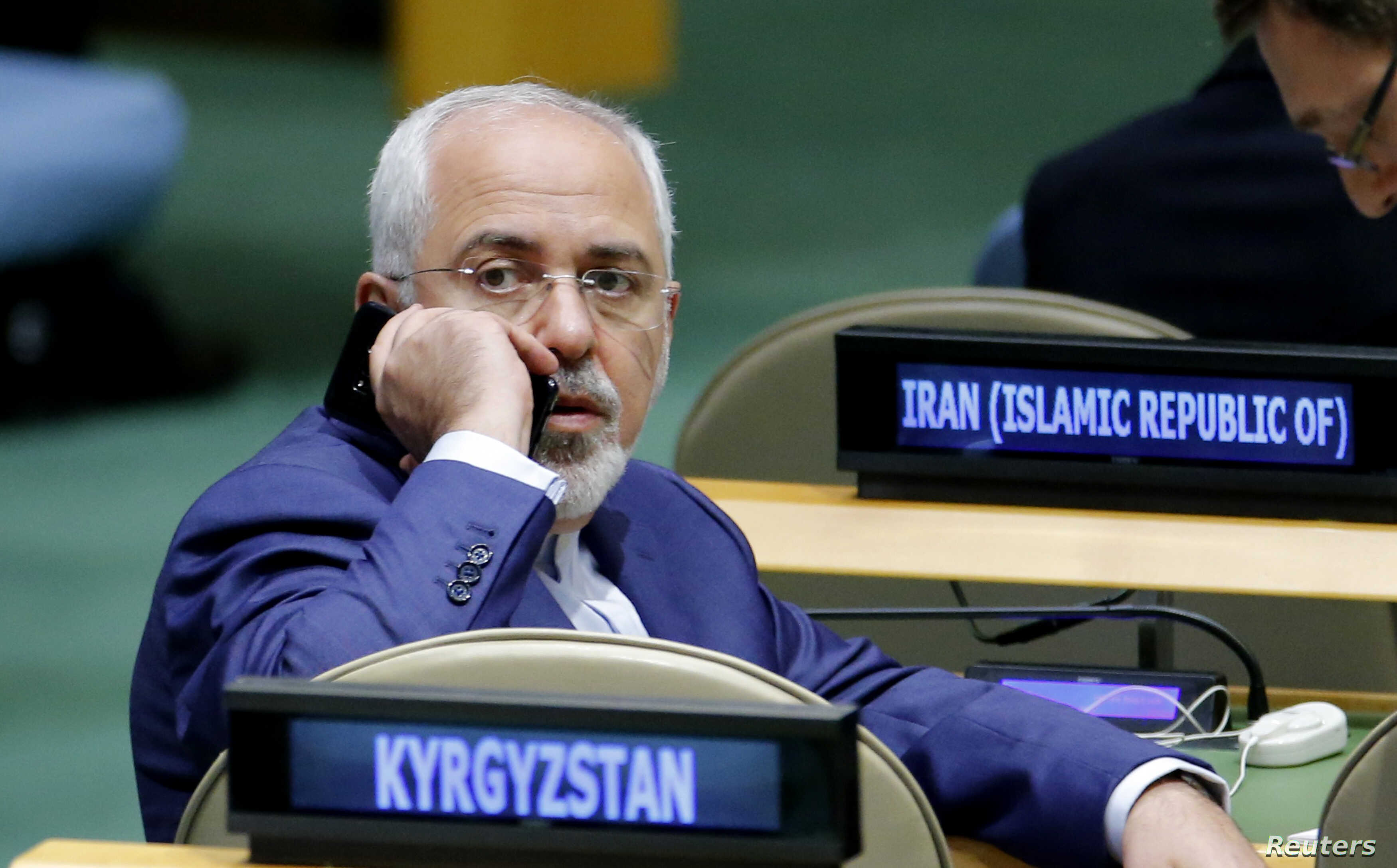 Iranian Foreign Minister Mohammad Javad Zarif attends the 72nd United Nations General Assembly at U.N. Headquarters in New York, Sept. 20, 2017.