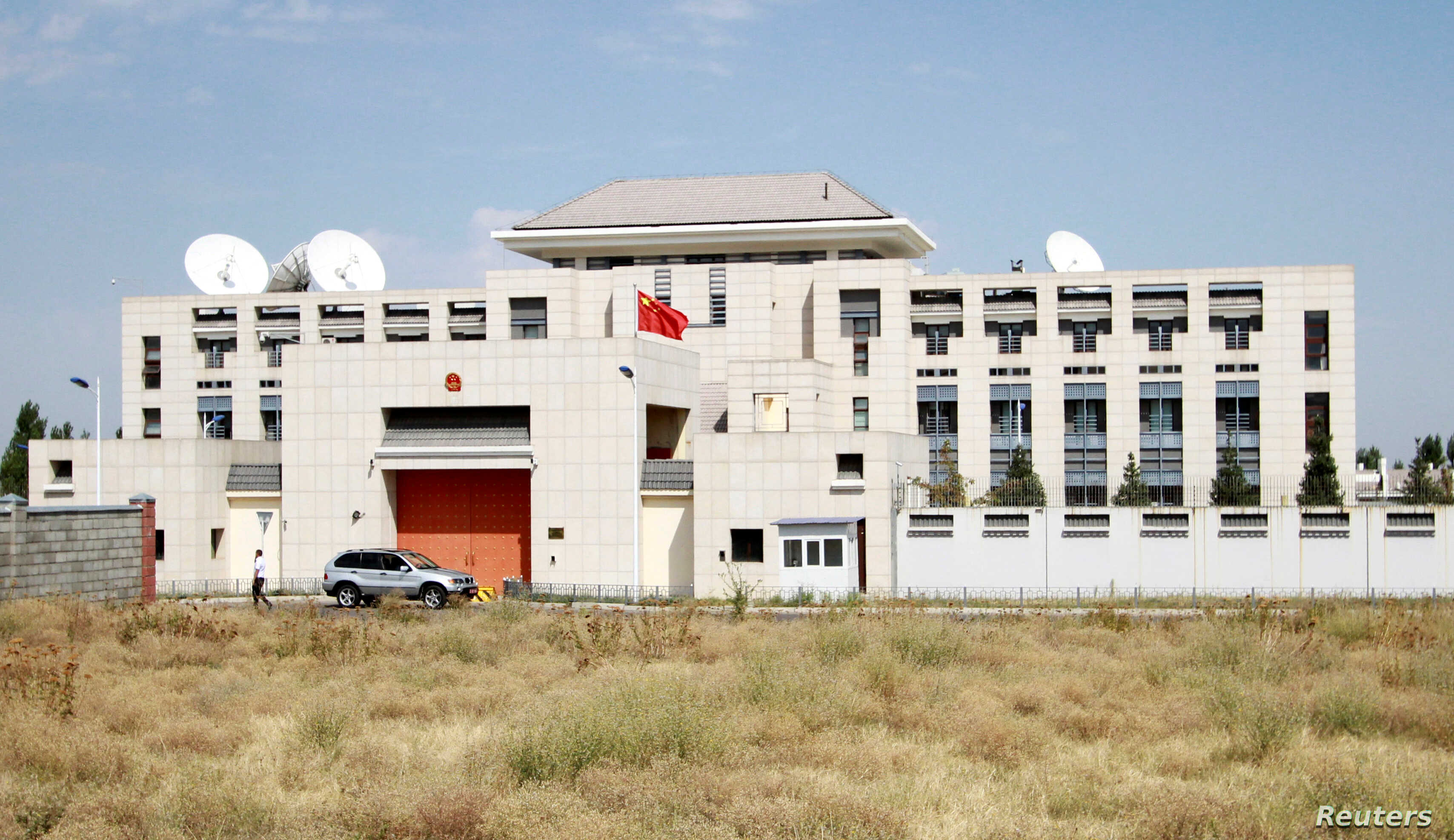 A general view shows China's embassy in Bishkek, Kyrgyzstan, August 30, 2016.