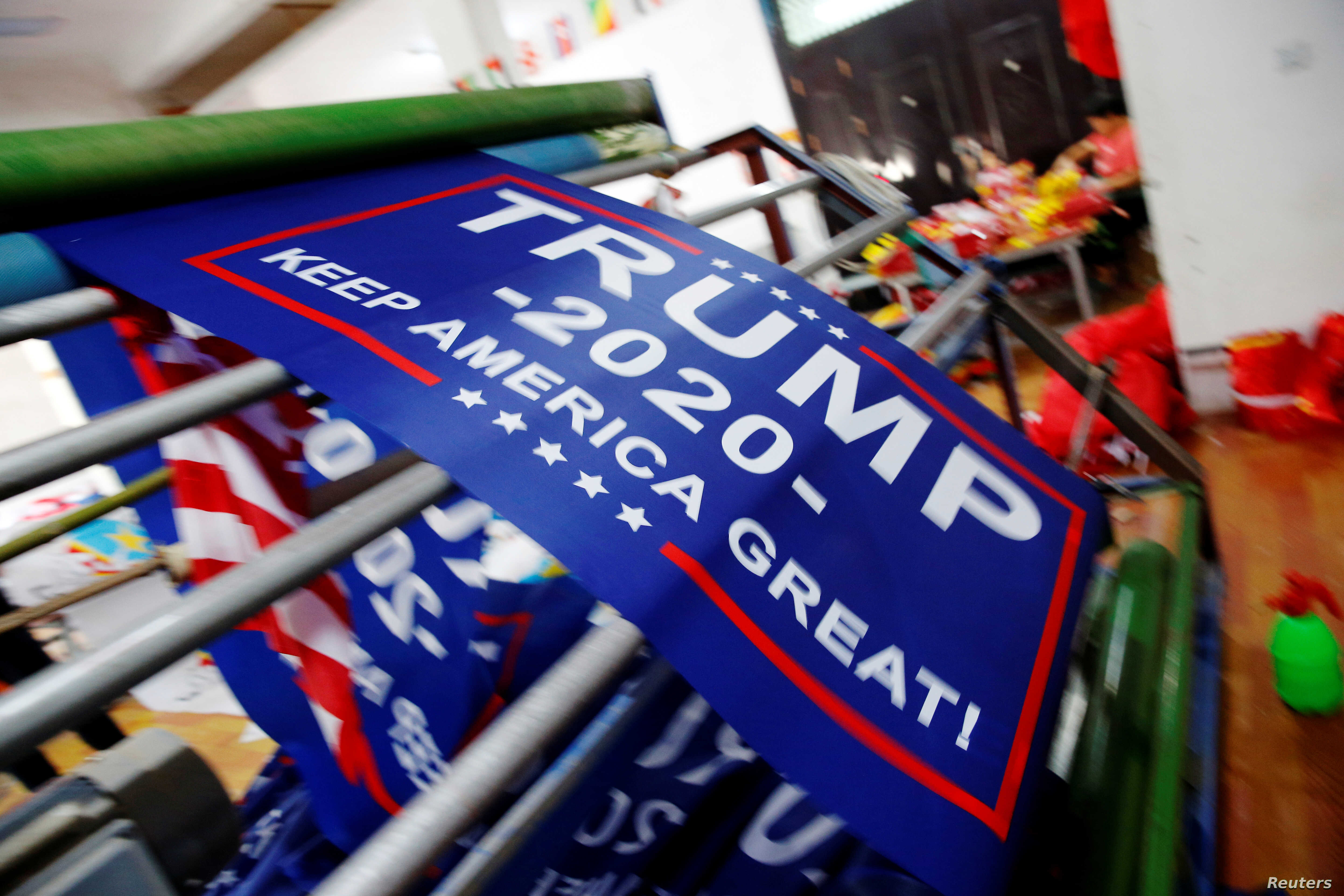 Trump Re-Election Flags Ordered Early, May Avoid Tariffs on