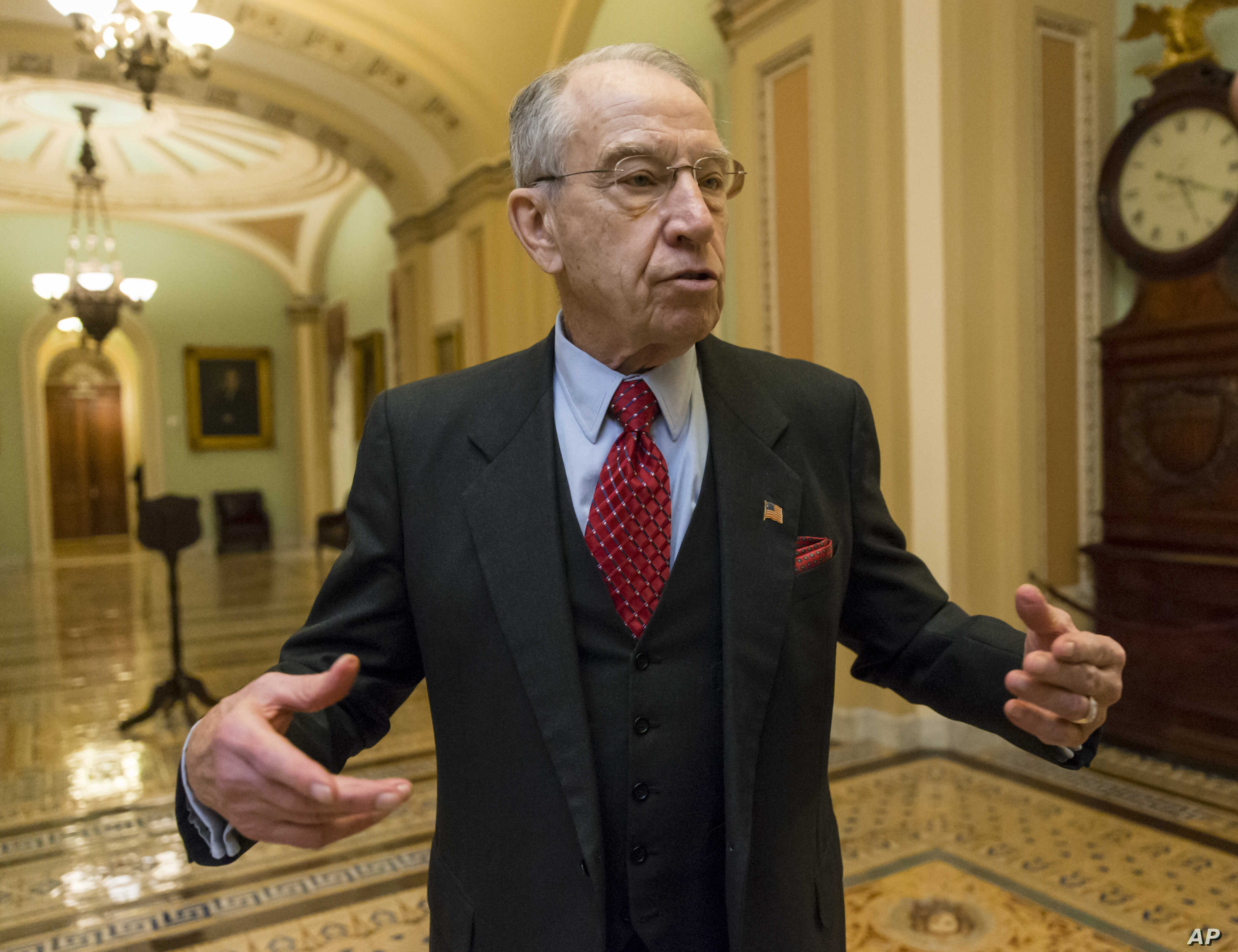 Sen. Chuck Grassley, R-Iowa, chairman of the Senate Judiciary Committee, is leaving open the possibility of holding a hearing for President Barack Obama's choice to fill a Supreme Court vacancy, amid signs of uncertainty about how Republicans would t...