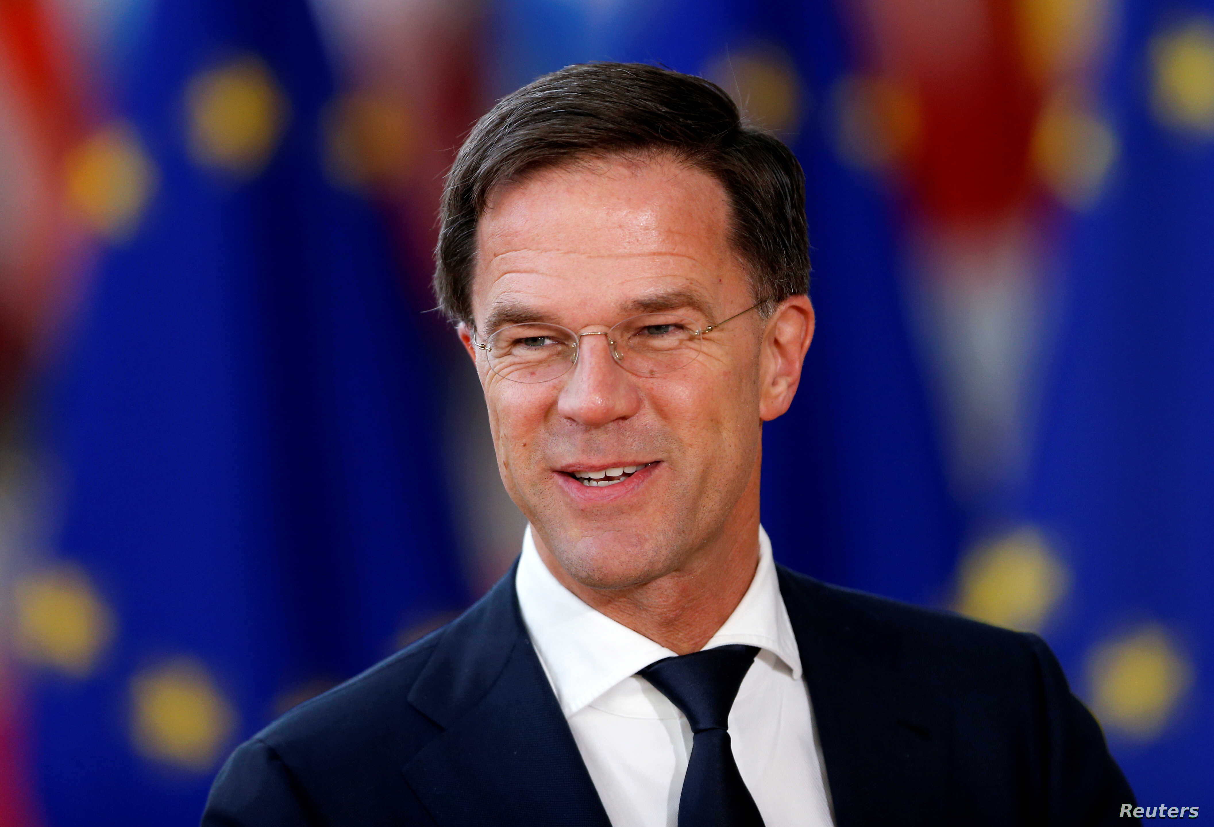 Netherlands' Prime Minister Mark Rutte arrives at a European Union leaders informal summit in Brussels, Belgium, Feb. 23, 2018.