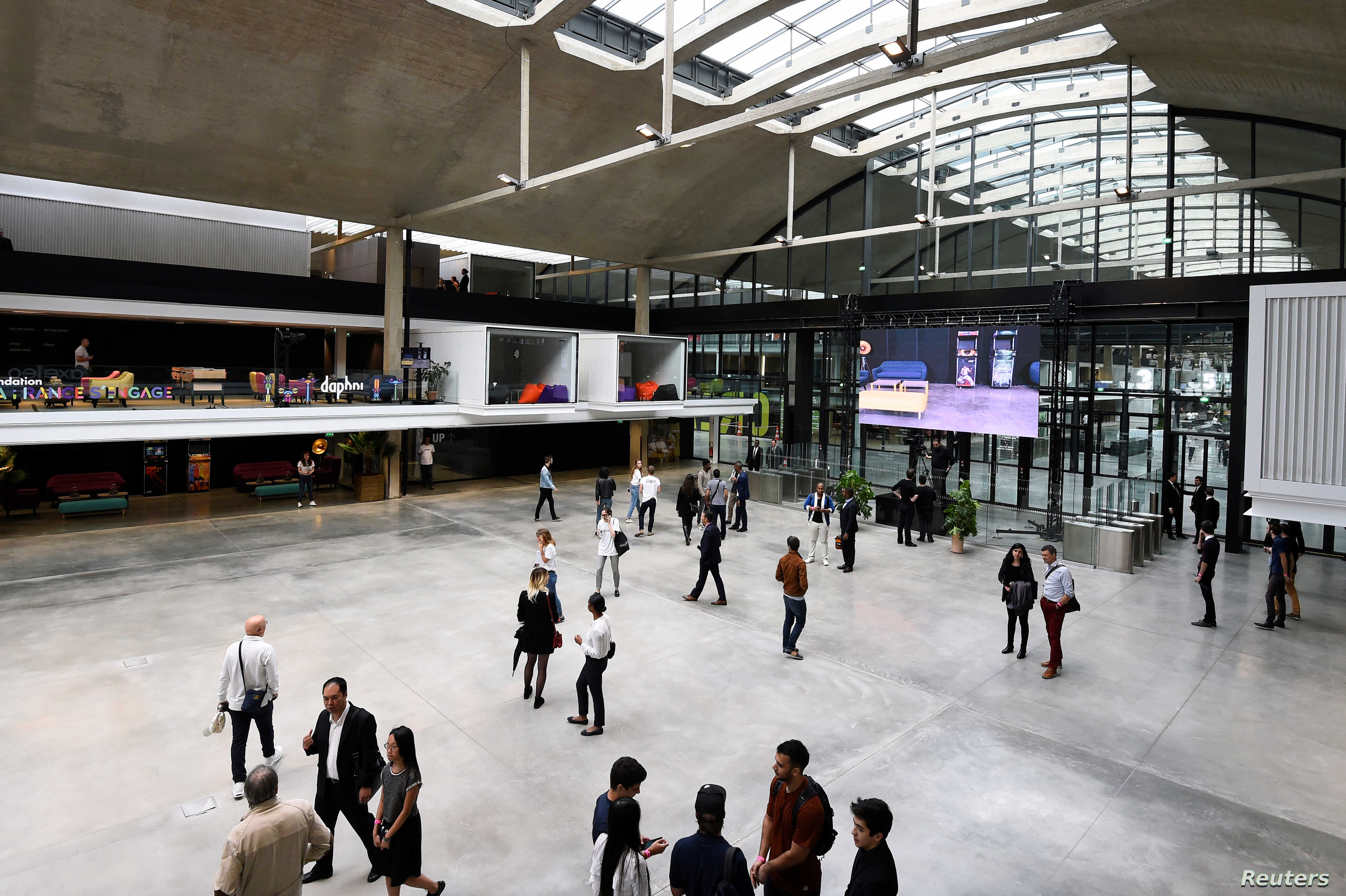 "General view of start-ups incubator ""Station F"", in Paris, France, June 29, 2017."