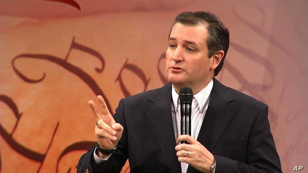 Republican presidential candidate Sen. Ted Cruz, R-Texas, addresses the audience during a presidential forum at First Baptist North Spartanburg in Spartanburg, South Carolina, Feb. 17, 2016.