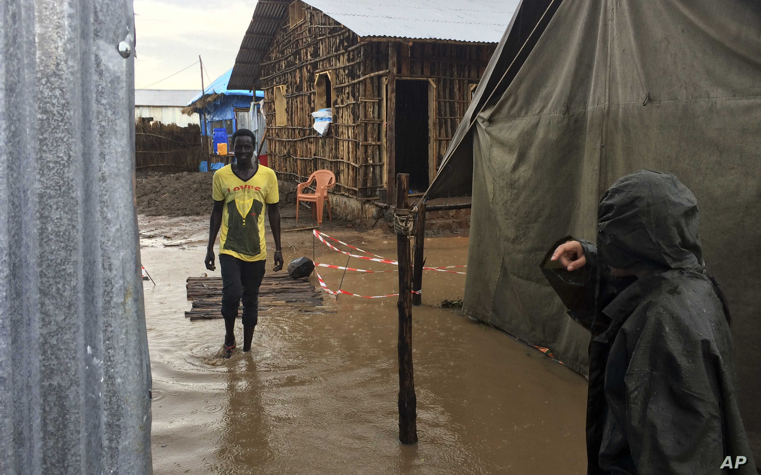 FILE - Flooding is seen after heavy rains at the Lietchuor refugee camp in the Gambella region of Ethiopia.