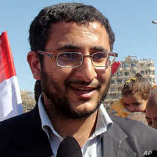Physician Ahmad Shamseldin, at Tahrir Square wants to see all members of the old government replaced, February 18, 2011