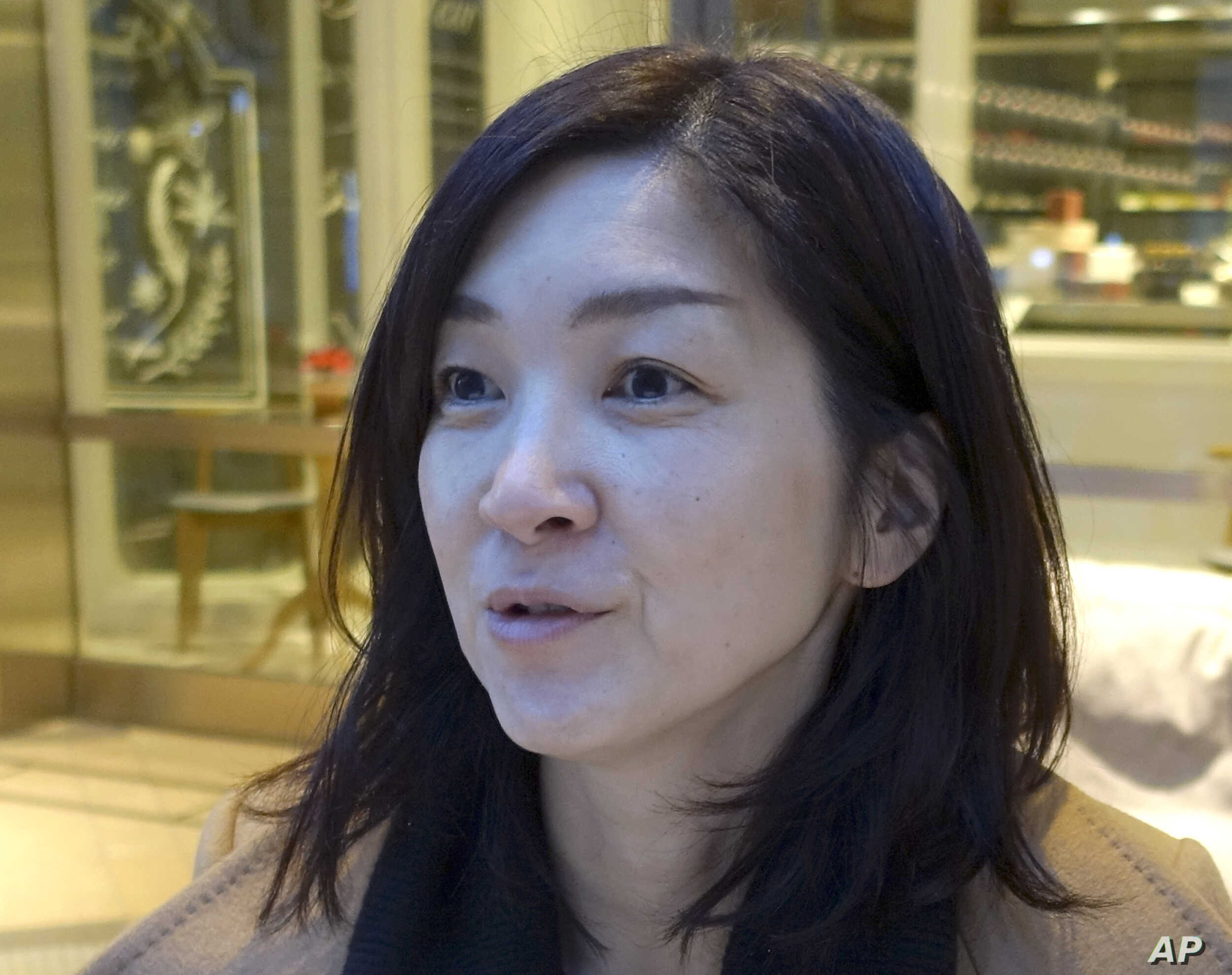 Mika Kobayashi, who heads a support group for sexual assault victims based on her own experience as a victim in 2000, speaks during an interview in Tokyo, Dec. 25, 2017. Kobayashi said her focus is on providing support and understanding for victims, ...