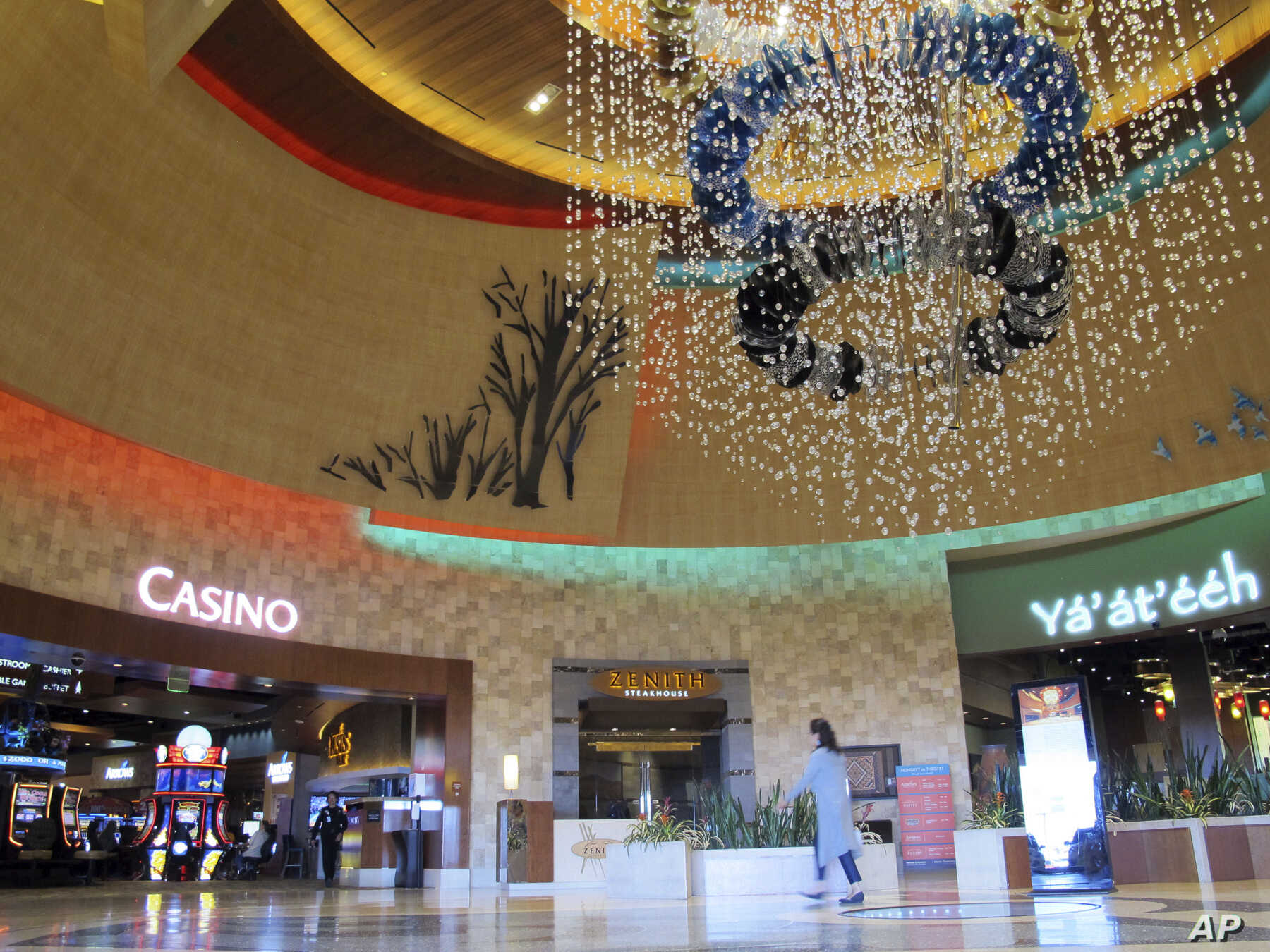 The lobby of the Navajo Nation's Twin Arrows Casino, east of Flagstaff, Ariz., is seen Tuesday, May 15, 2018. American Indian tribes are welcoming the opportunity to add sports betting to potentially hundreds of casinos across the country after the U...