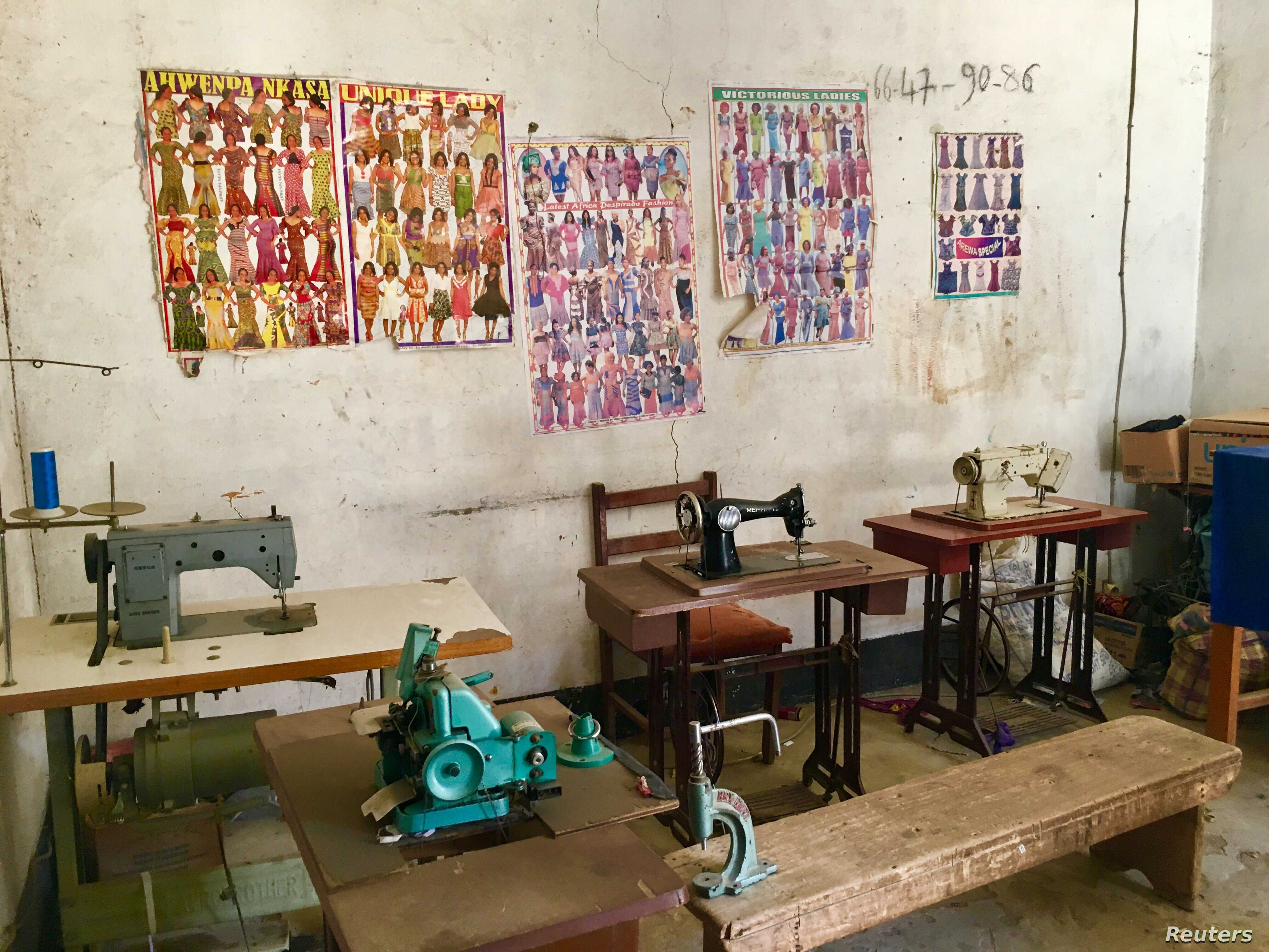 A sewing workshop in the CESER Center for mentally handicapped children, N'Djamena, Chad, Sept. 23, 2017.