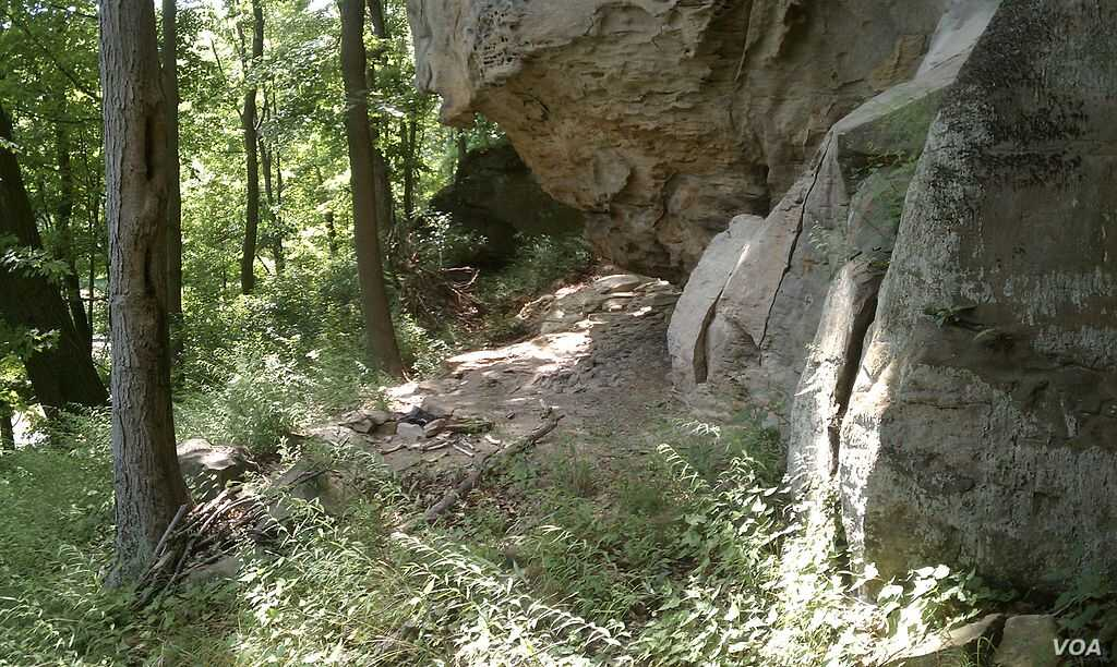 The Meadowcroft Rockshelter in Washington County, Pa., where archaeologists found artifacts dating back 16,000 years.