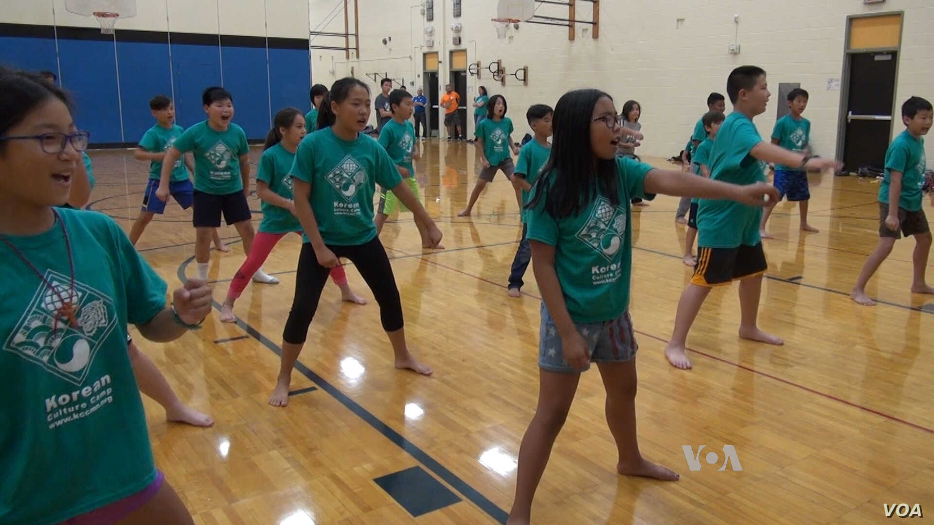 It wouldn't be Korean Cultrue Camp without a class on Teakwondo, the Korean martial art characterized by head high kicks.